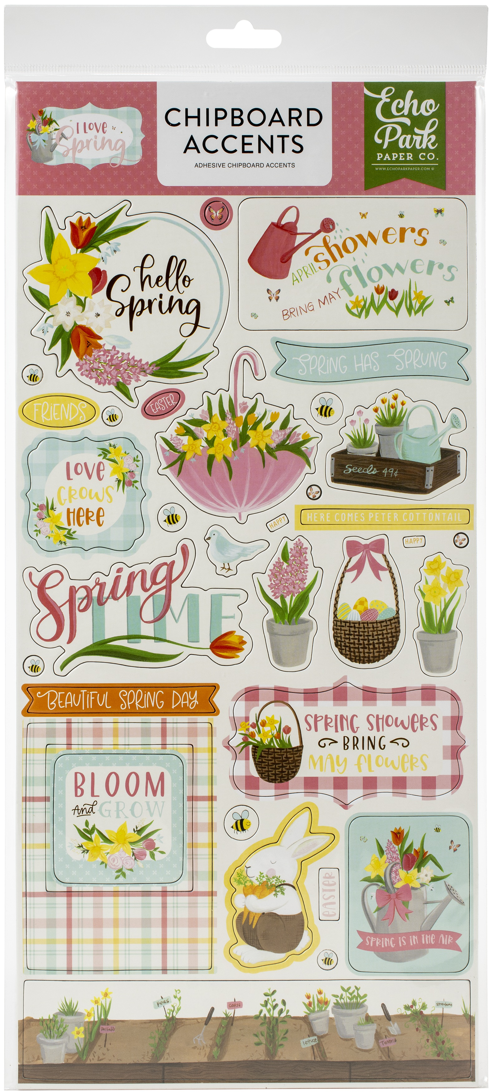 I Love Spring - Chipboard Accents
