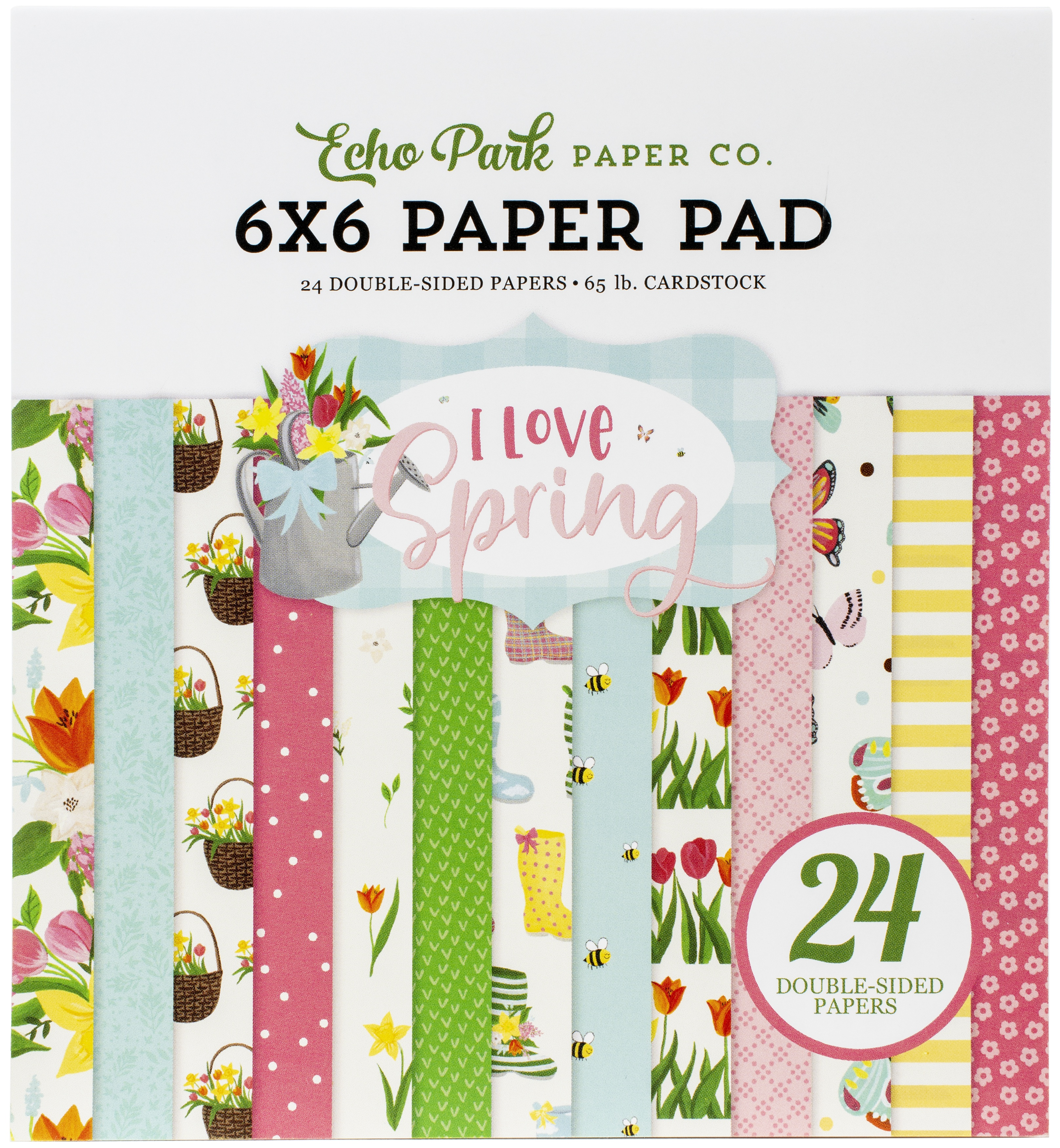 Echo Park Double-Sided Paper Pad 6X6 24/Pkg-I Love Spring