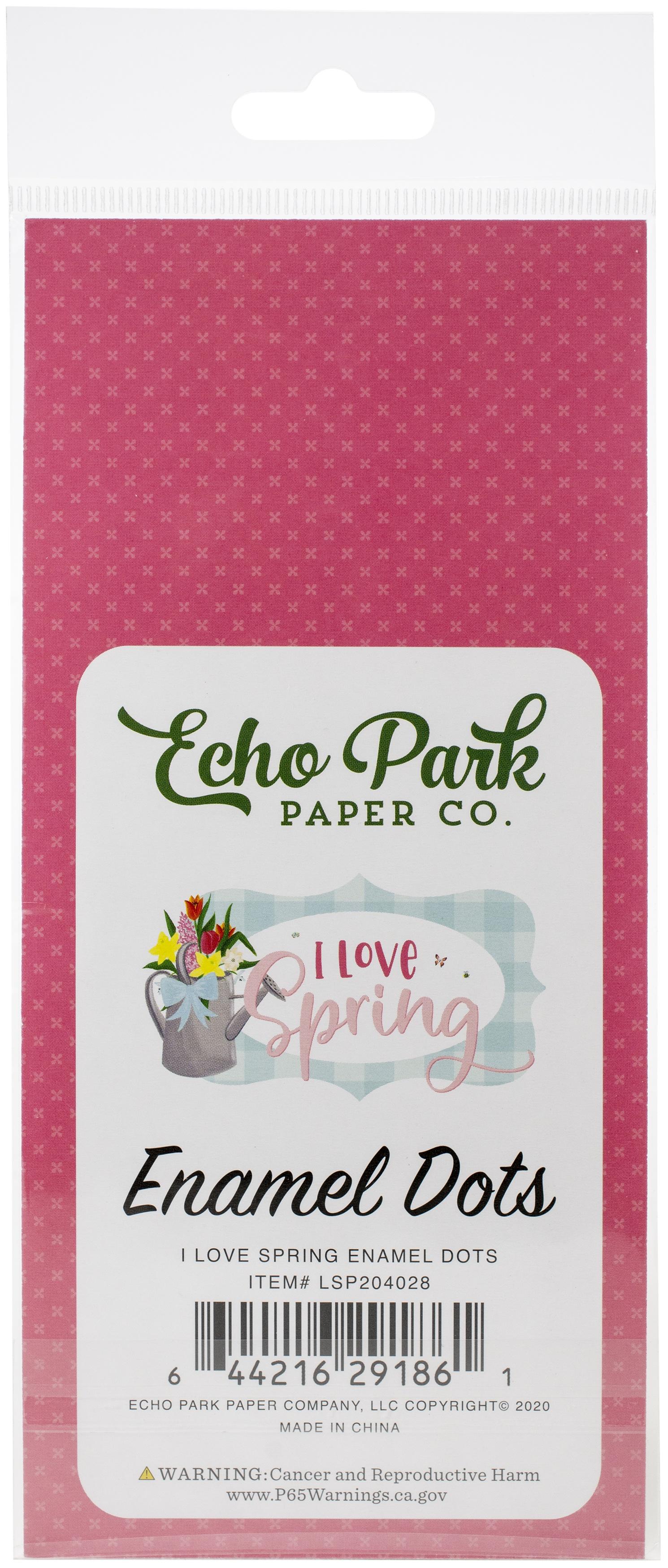 Echo Park Adhesive Enamel Dots 60/Pkg-I Love Spring