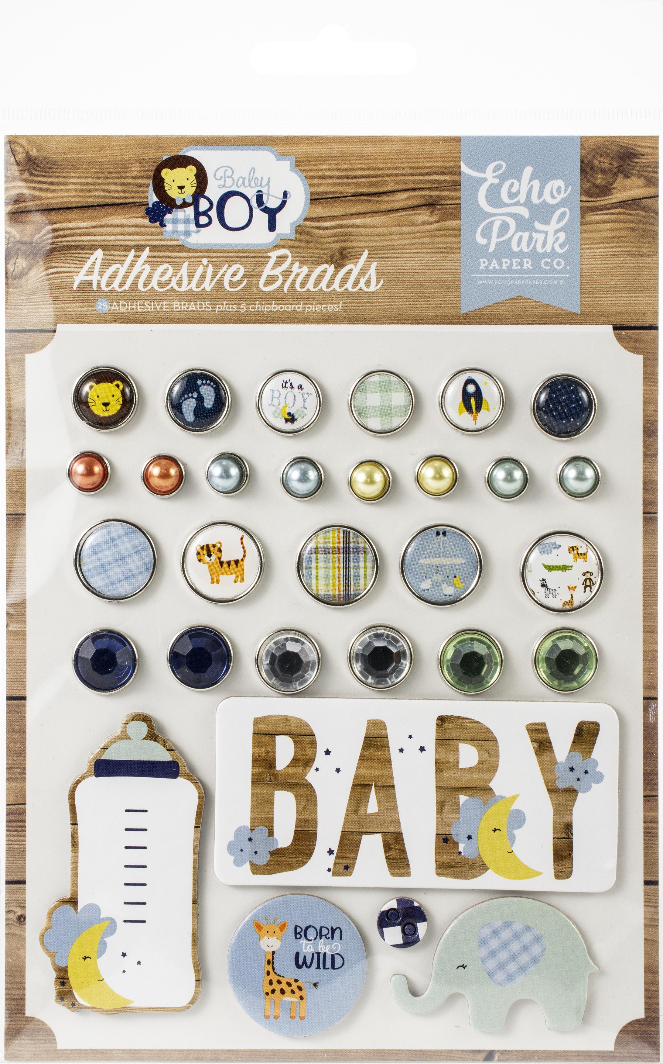 Echo Park Decorative Brads-Baby Boy