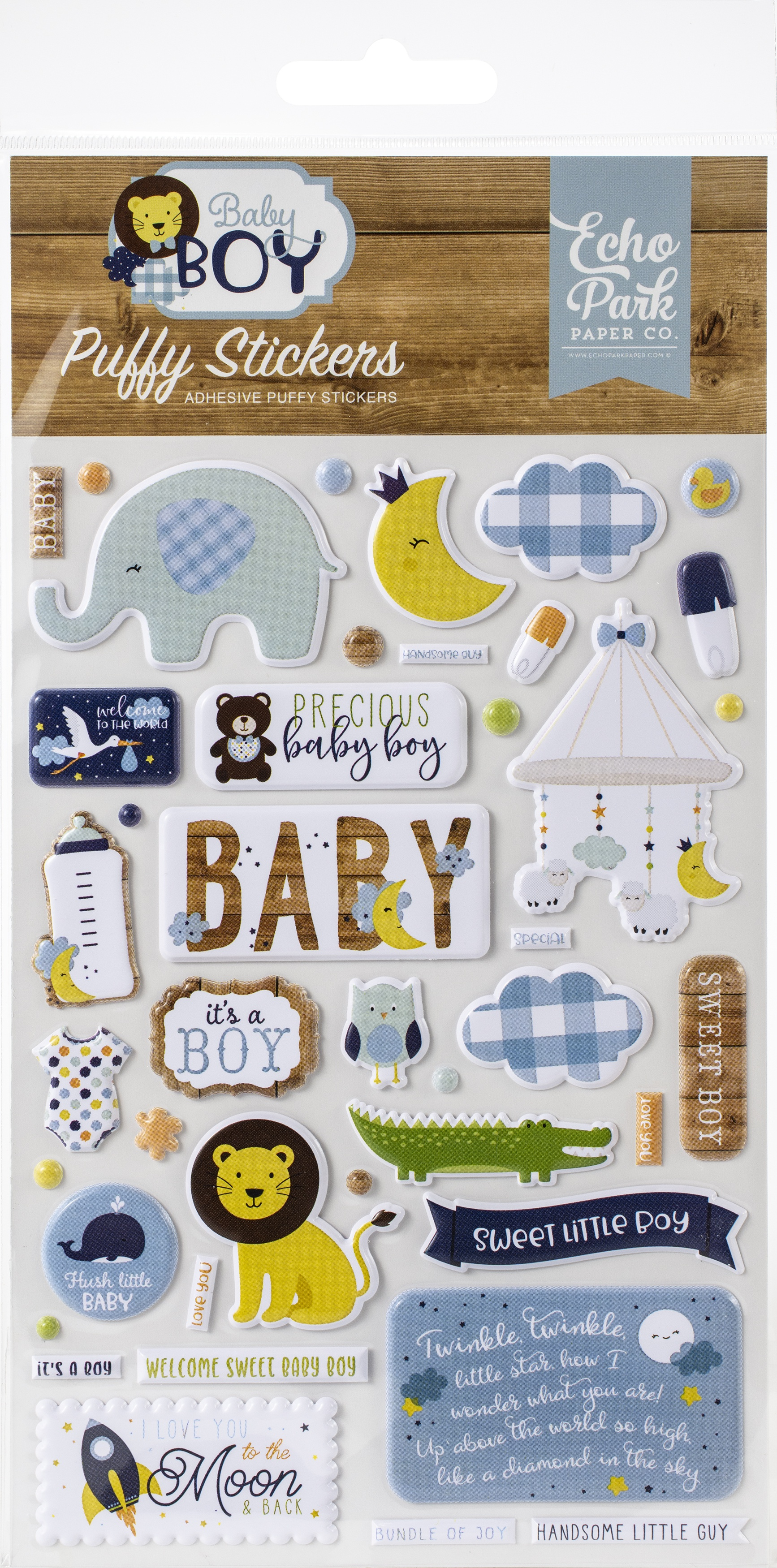 Baby Boy Puffy Stickers-