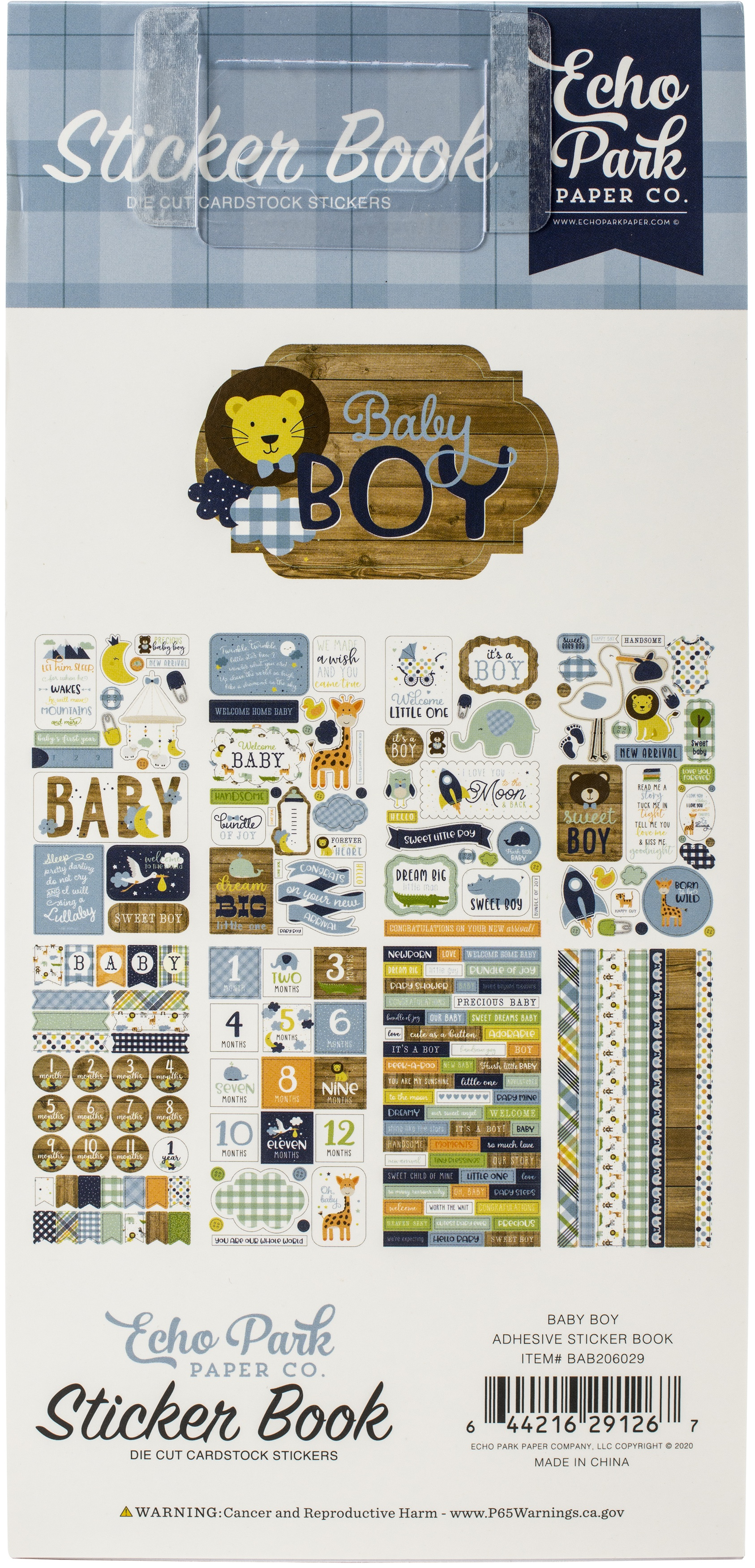 Echo Park Sticker Book-Baby Boy