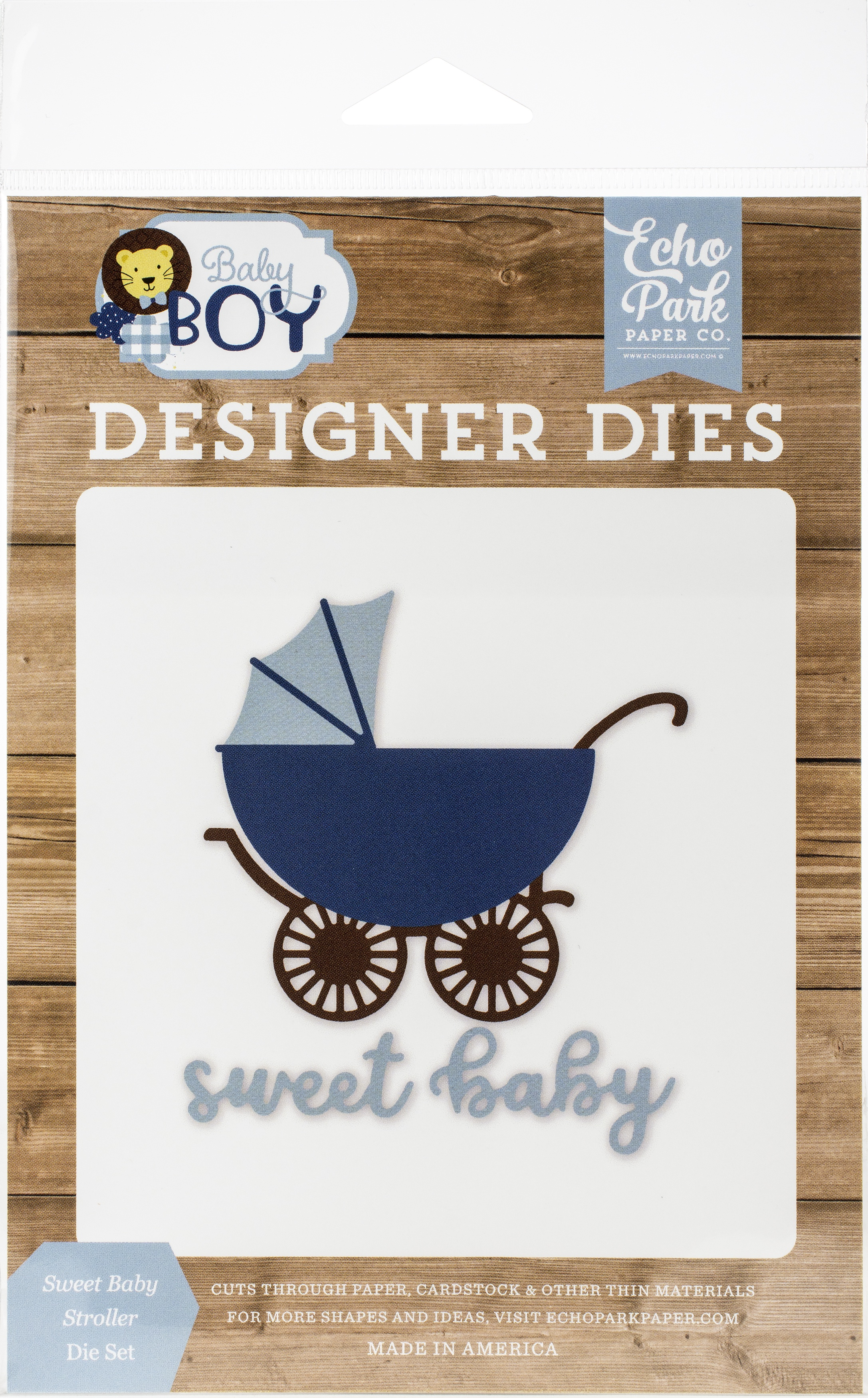 Echo Park Dies-Sweet Baby Stroller, Baby Boy