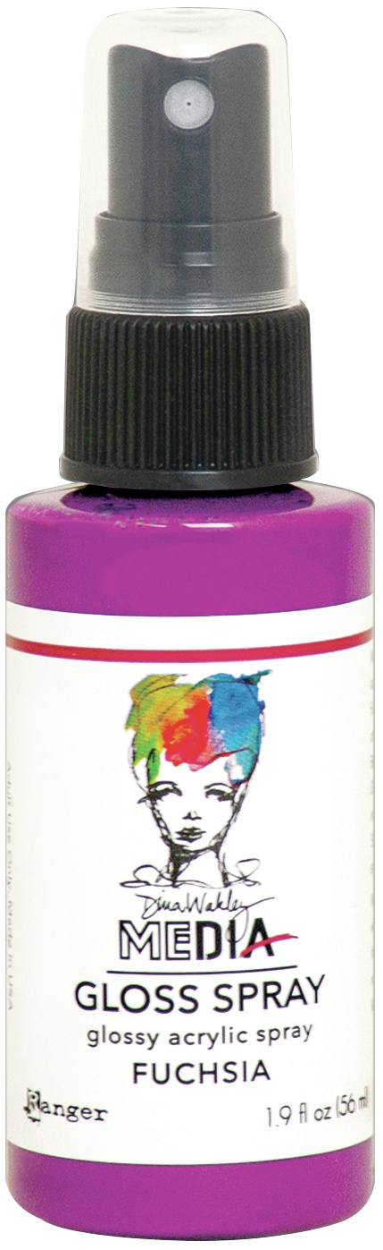 Dina Wakley Media Gloss Sprays 2oz Fuchsia