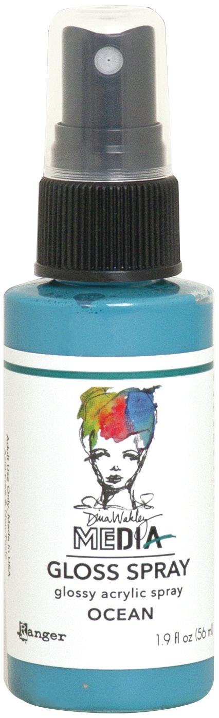 Dina Wakley Media Gloss Sprays 2oz-Ocean
