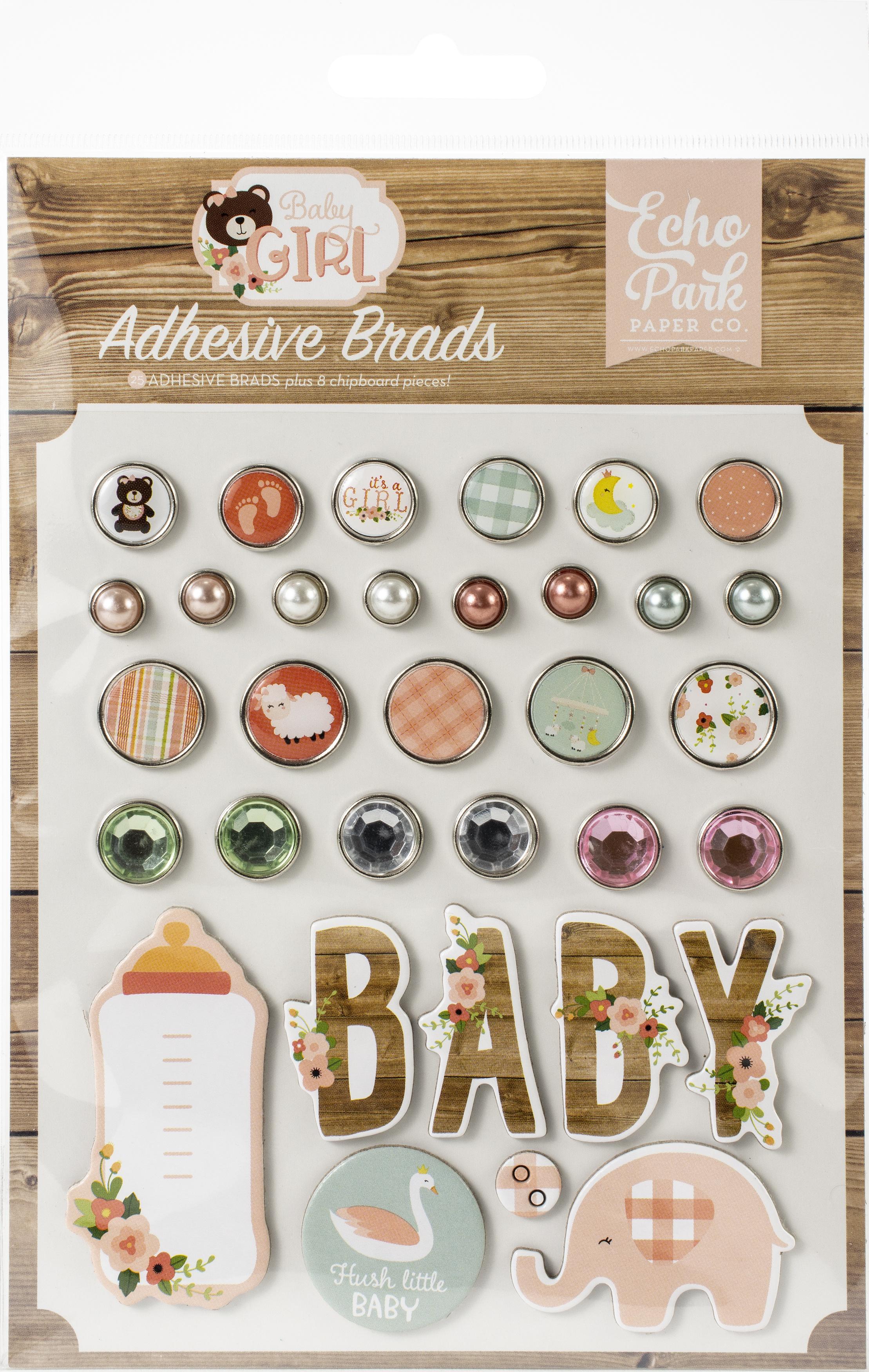 Echo Park Decorative Brads-Baby Girl