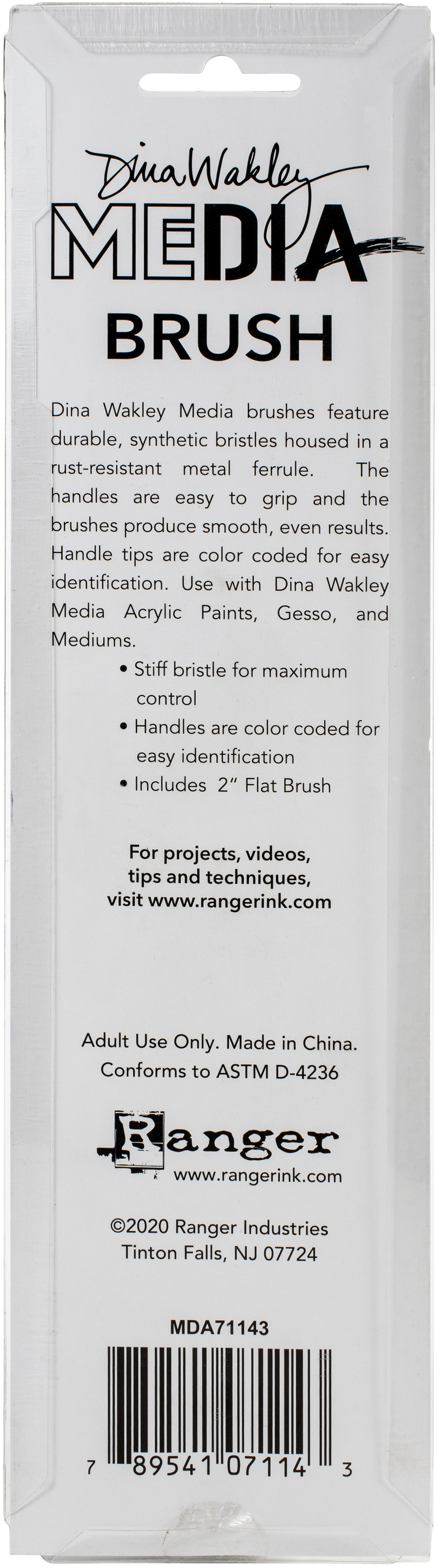 Dina Wakley Media Stiff Bristle Brush -2