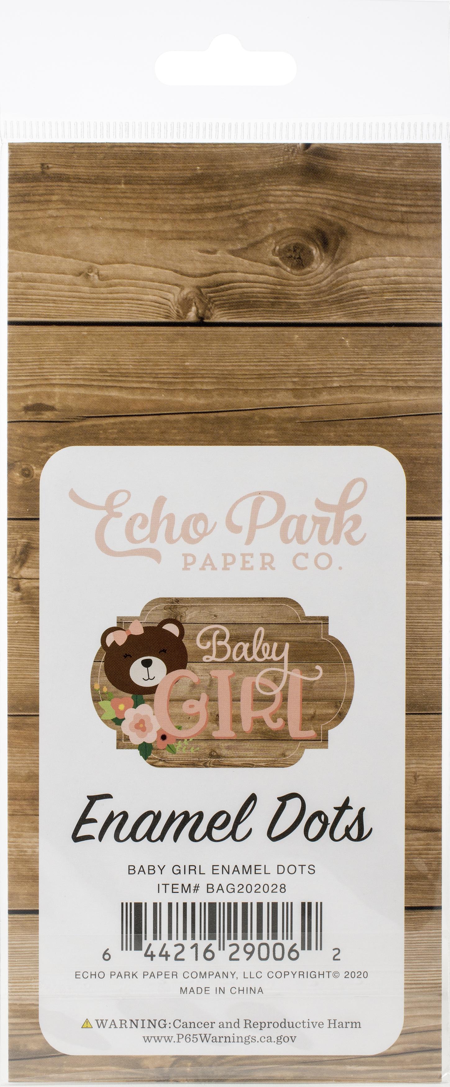 Echo Park Adhesive Enamel Dots 60/Pkg-Baby Girl