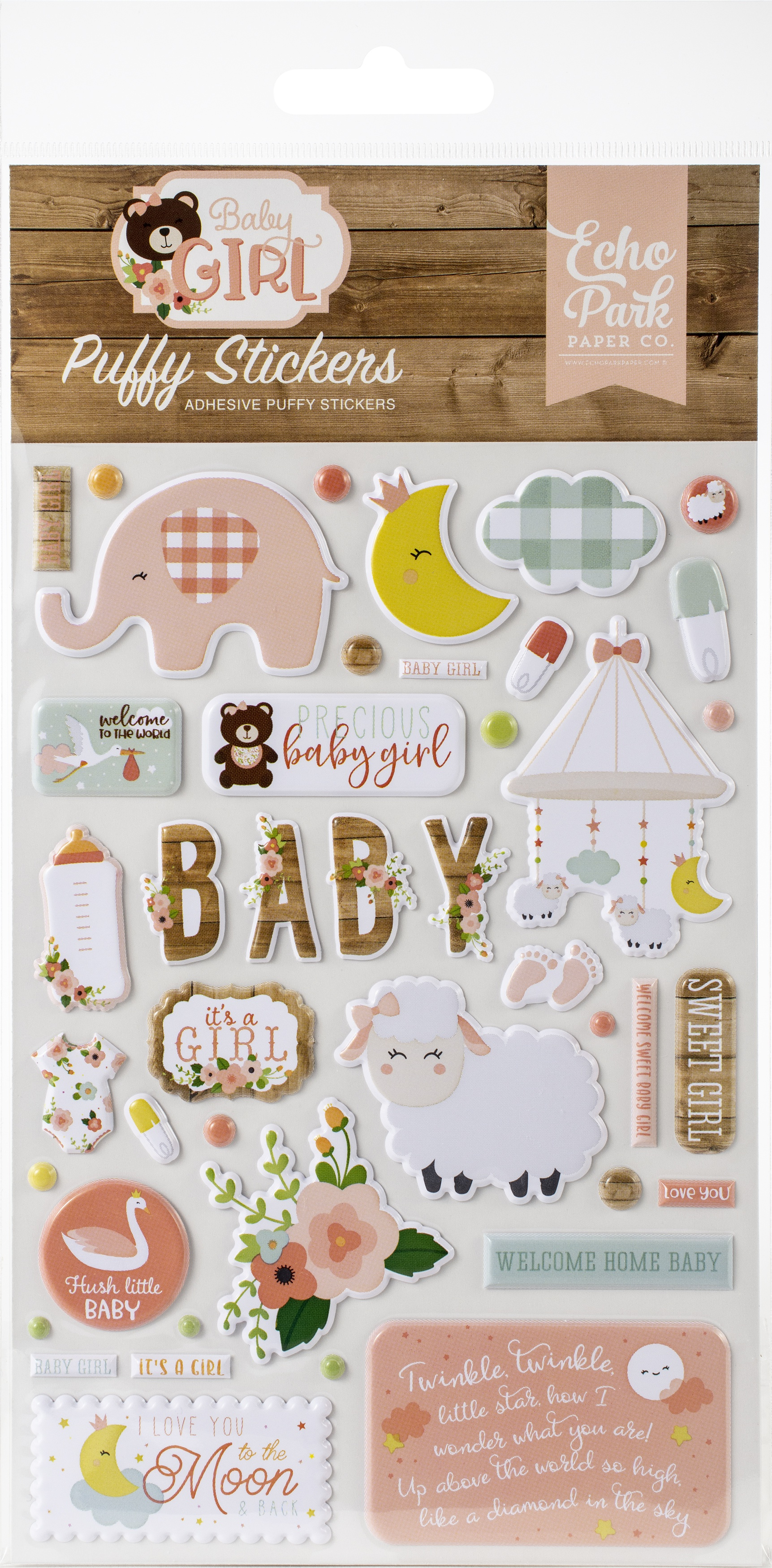 Baby Girl Puffy Stickers-