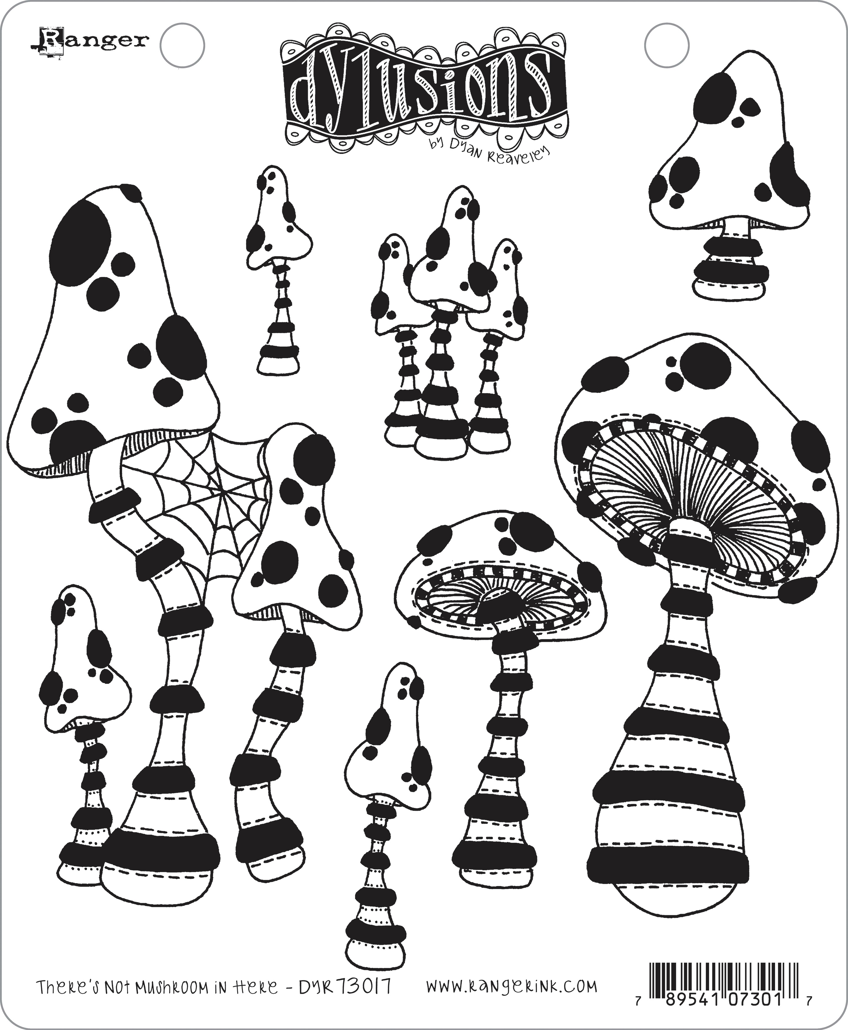 Dyan Reaveley's Dylusions Cling Stamp Collections 8.5X7-There's No Mushroom In...
