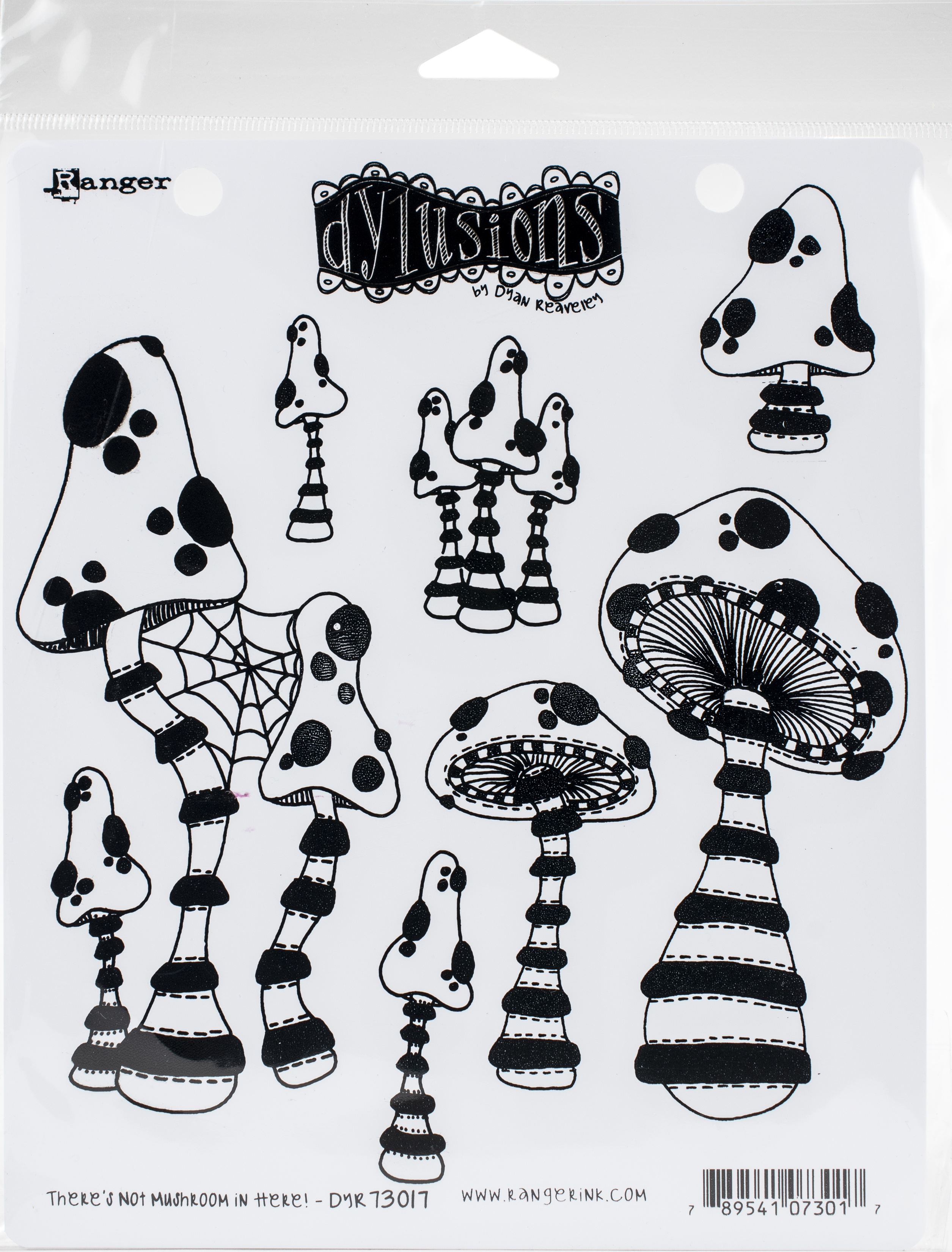 Dyan Reaveley's Dylusions Cling Stamp Collections 8.5X7-There's No Mushroom In Here!