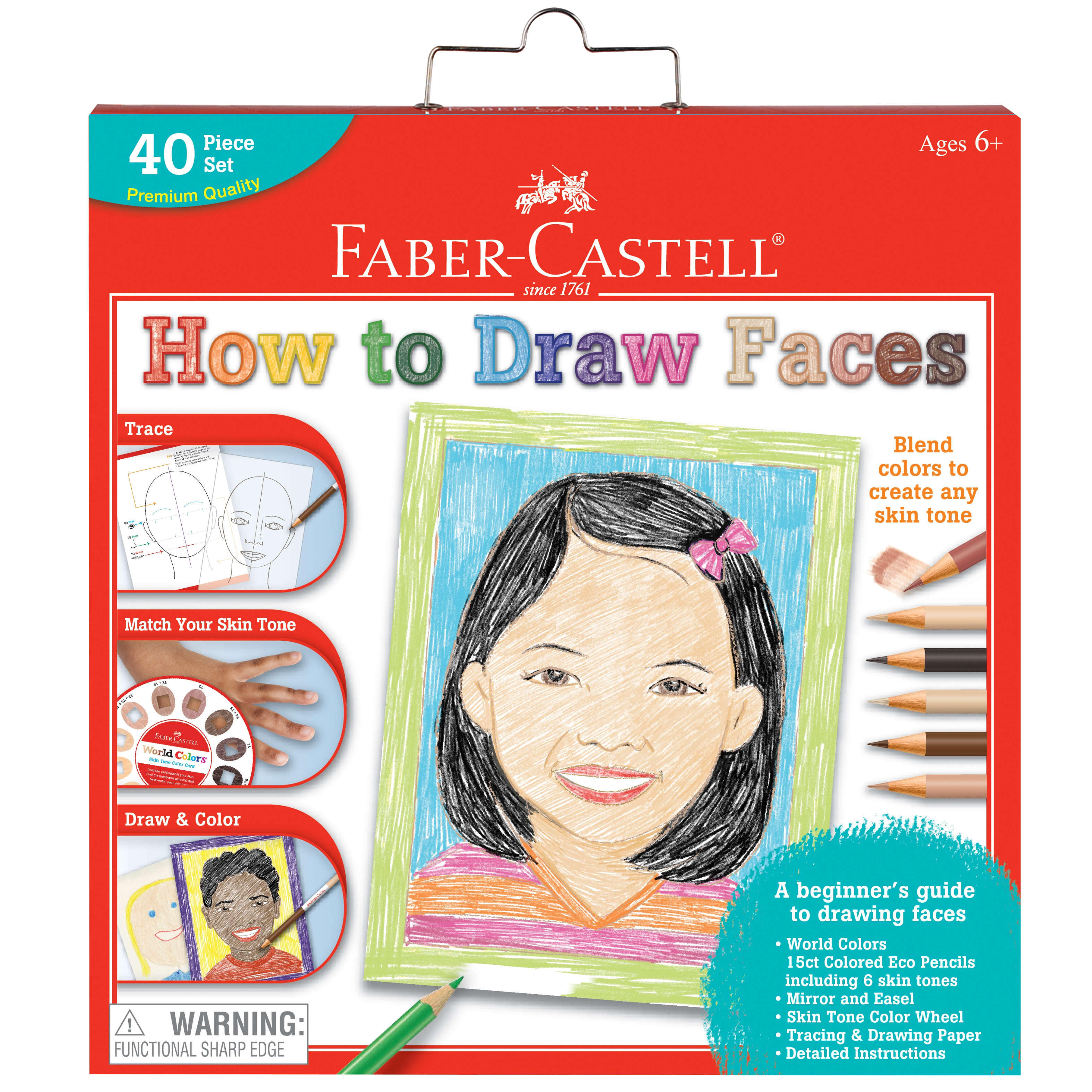 Creativity For Kids How To Draw Faces Kit-40/Pkg