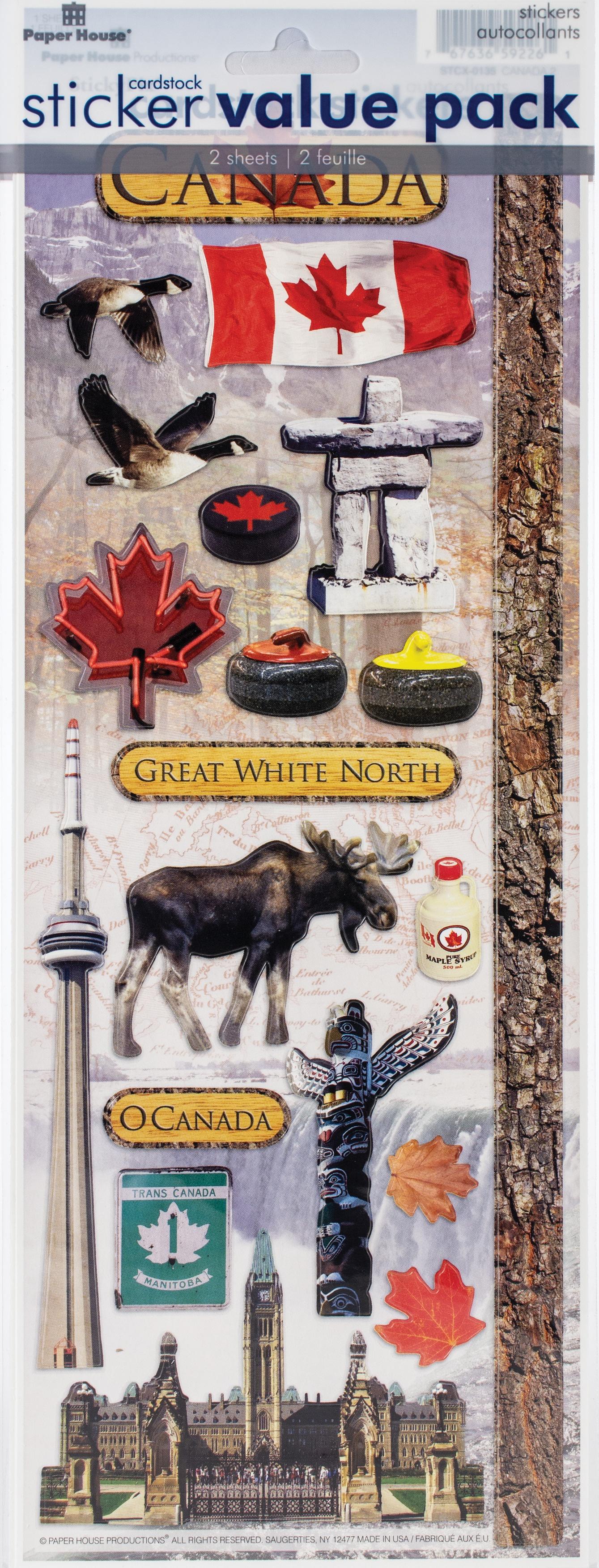 Cardstock Sticker 2/Pkg-Canada