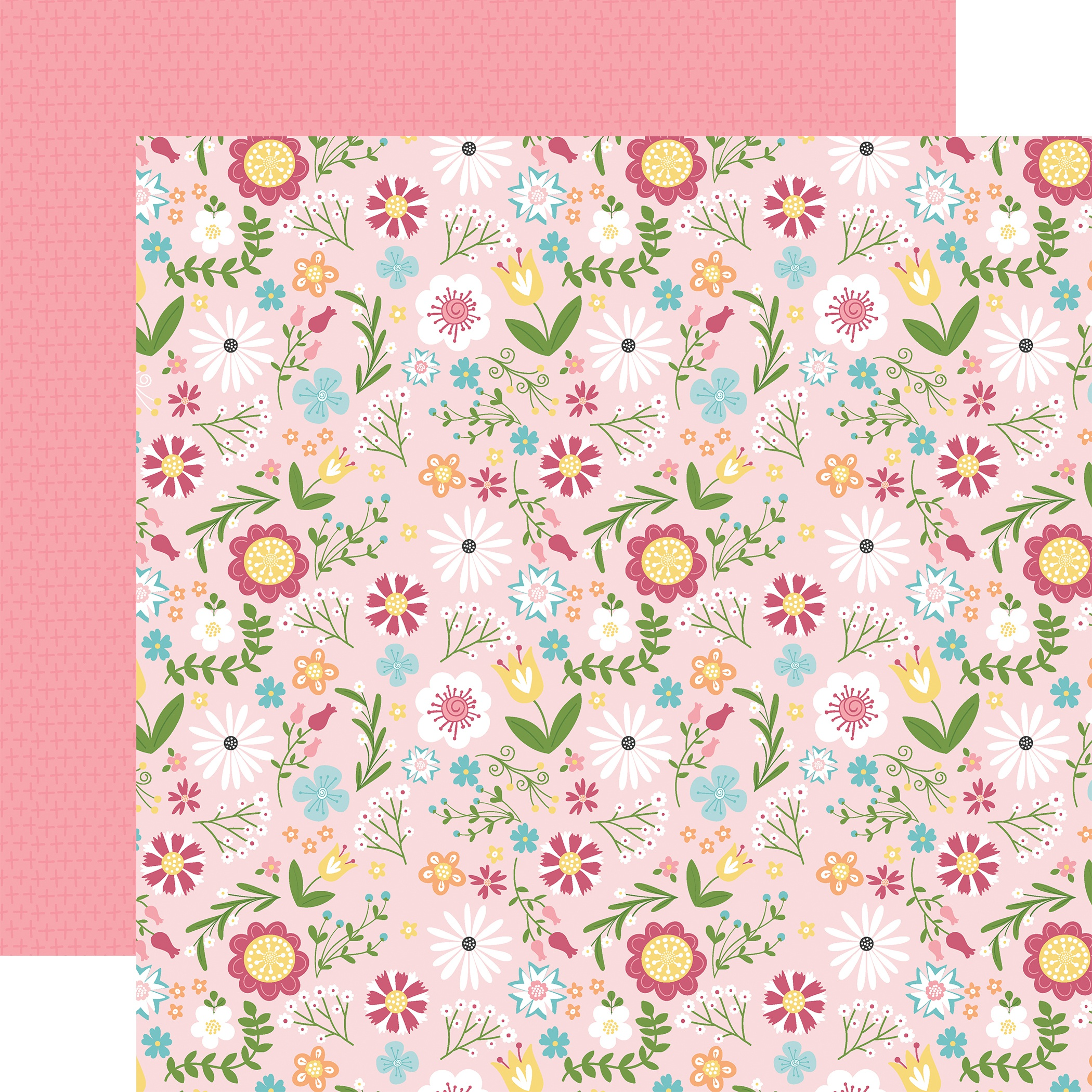 All Girl Double-Sided Cardstock 12X12-All Girl Floral