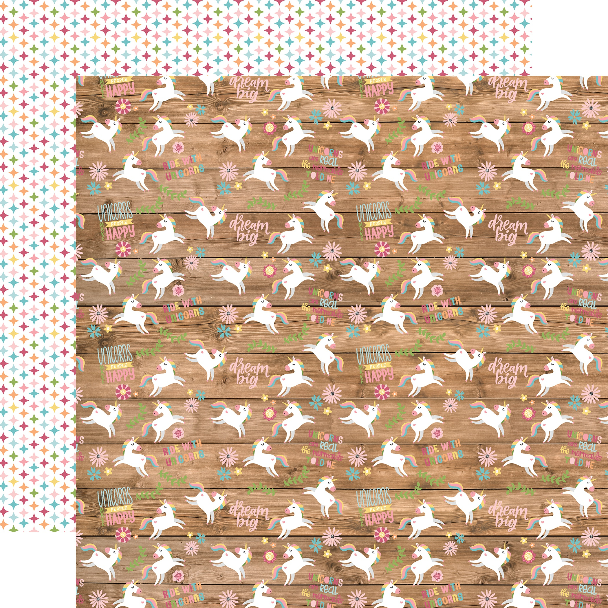 All Girl Double-Sided Cardstock 12X12-Happy Unicorns