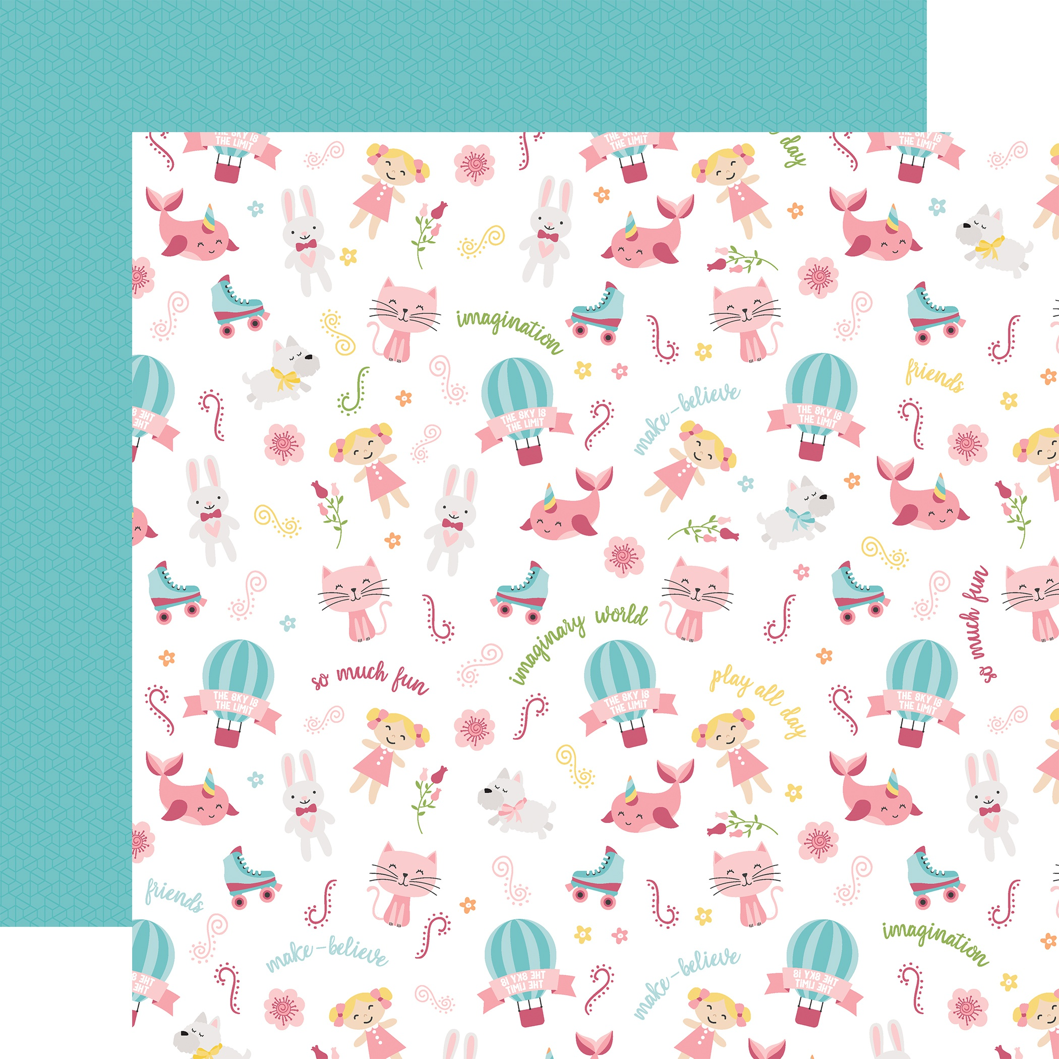 All Girl Double-Sided Cardstock 12X12-Imagination