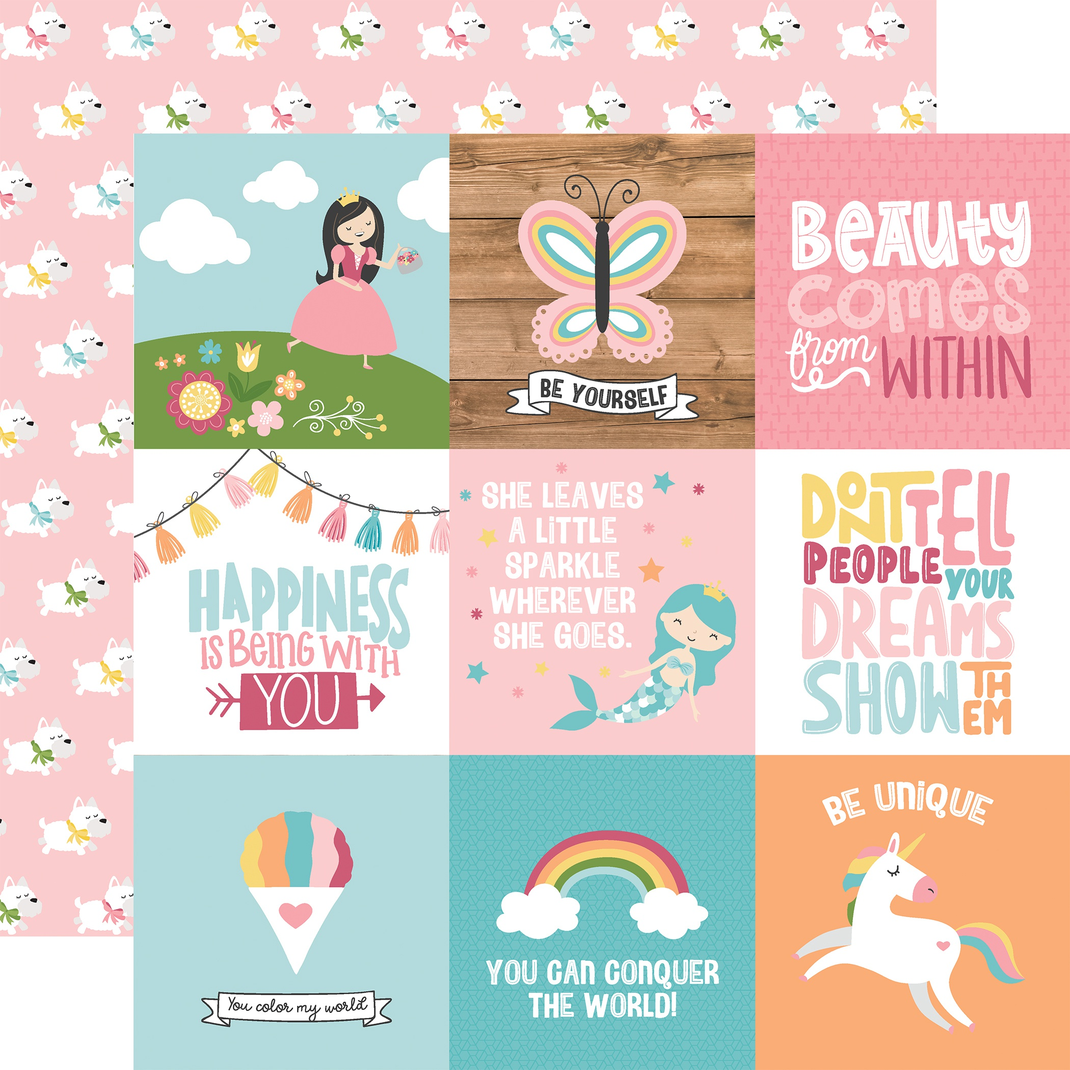 All Girl - 4x4 Journaling Cards