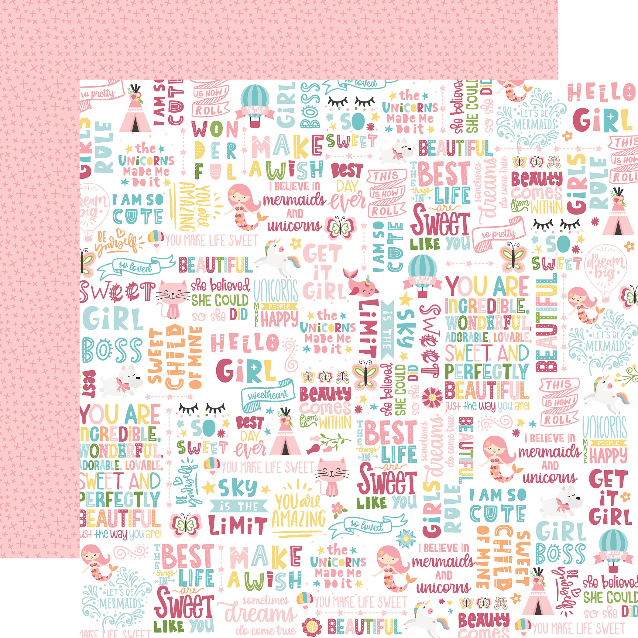 All Girl Double-Sided Cardstock 12X12-Hello Girl