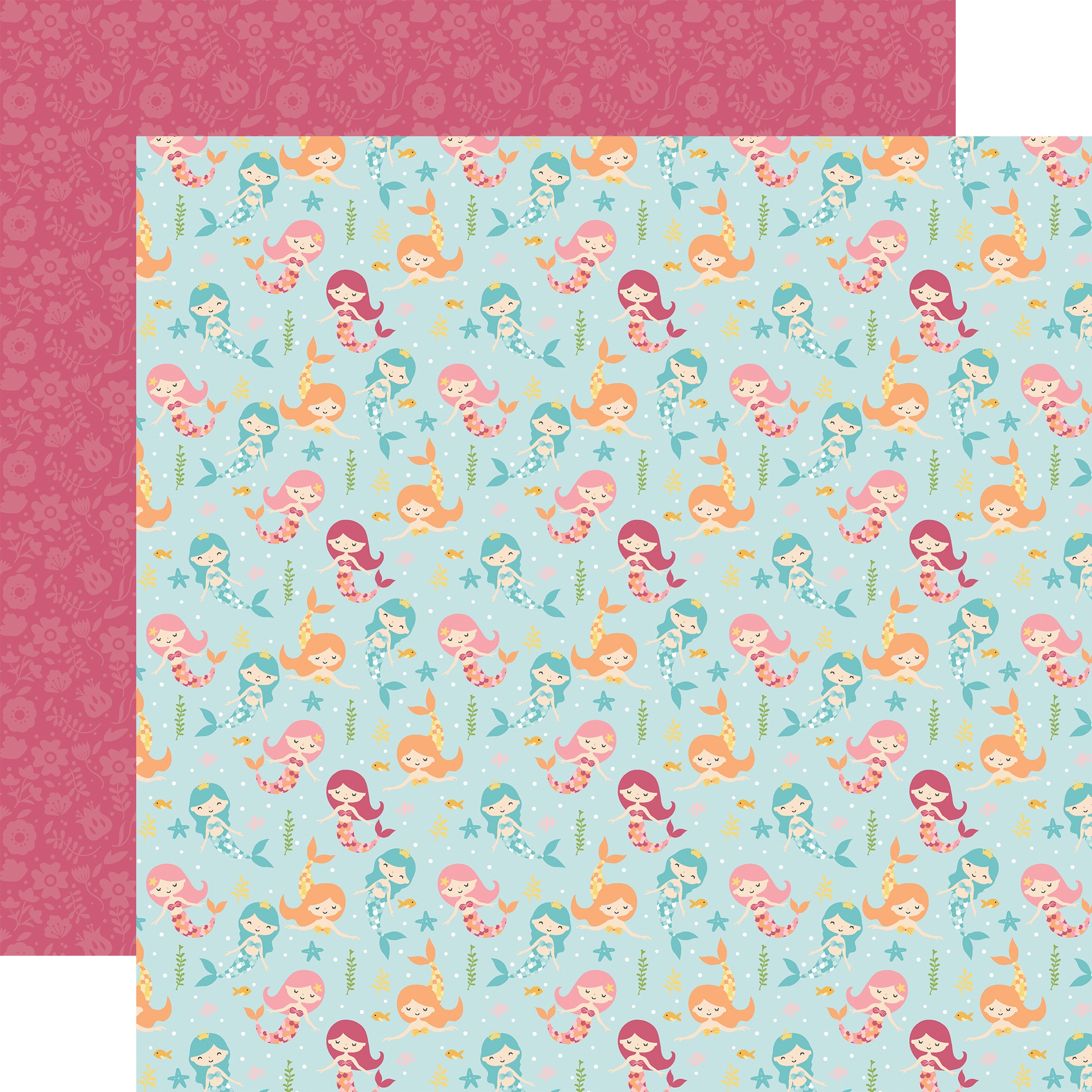 All Girl Double-Sided Cardstock 12X12-Magical Mermaids