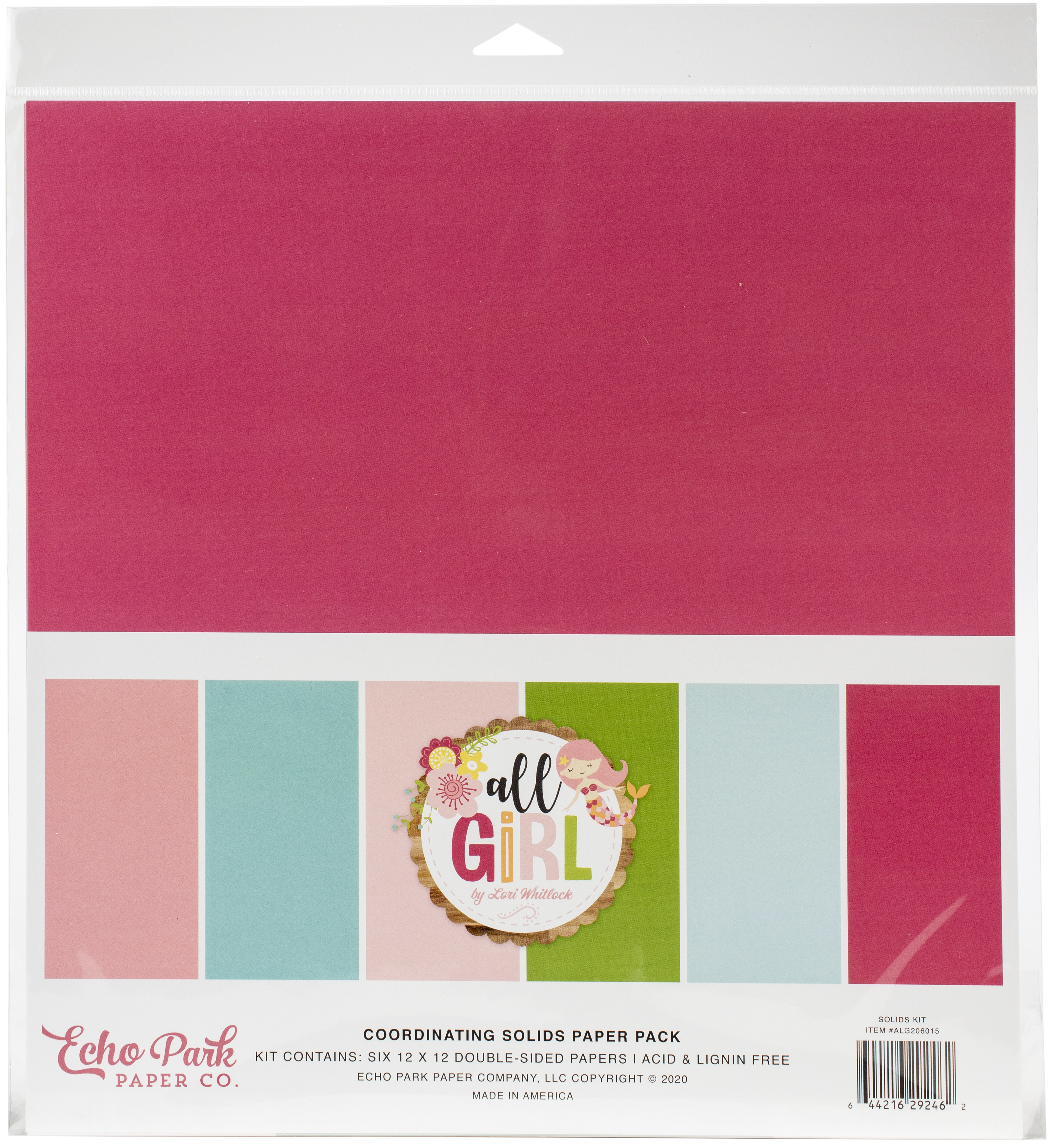 All Girl - Solids Paper Pack 12x12