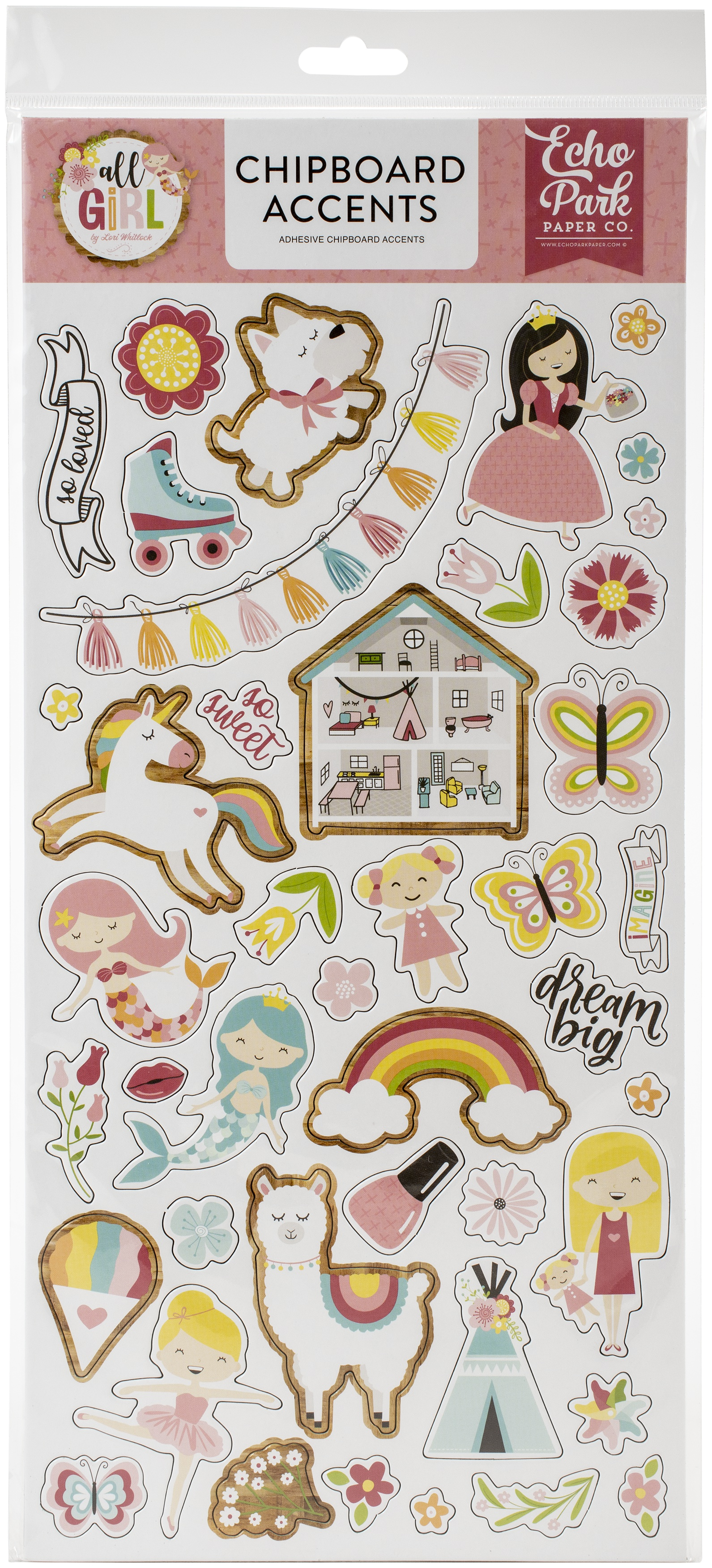 All Girl Chipboard 6X13-Accents