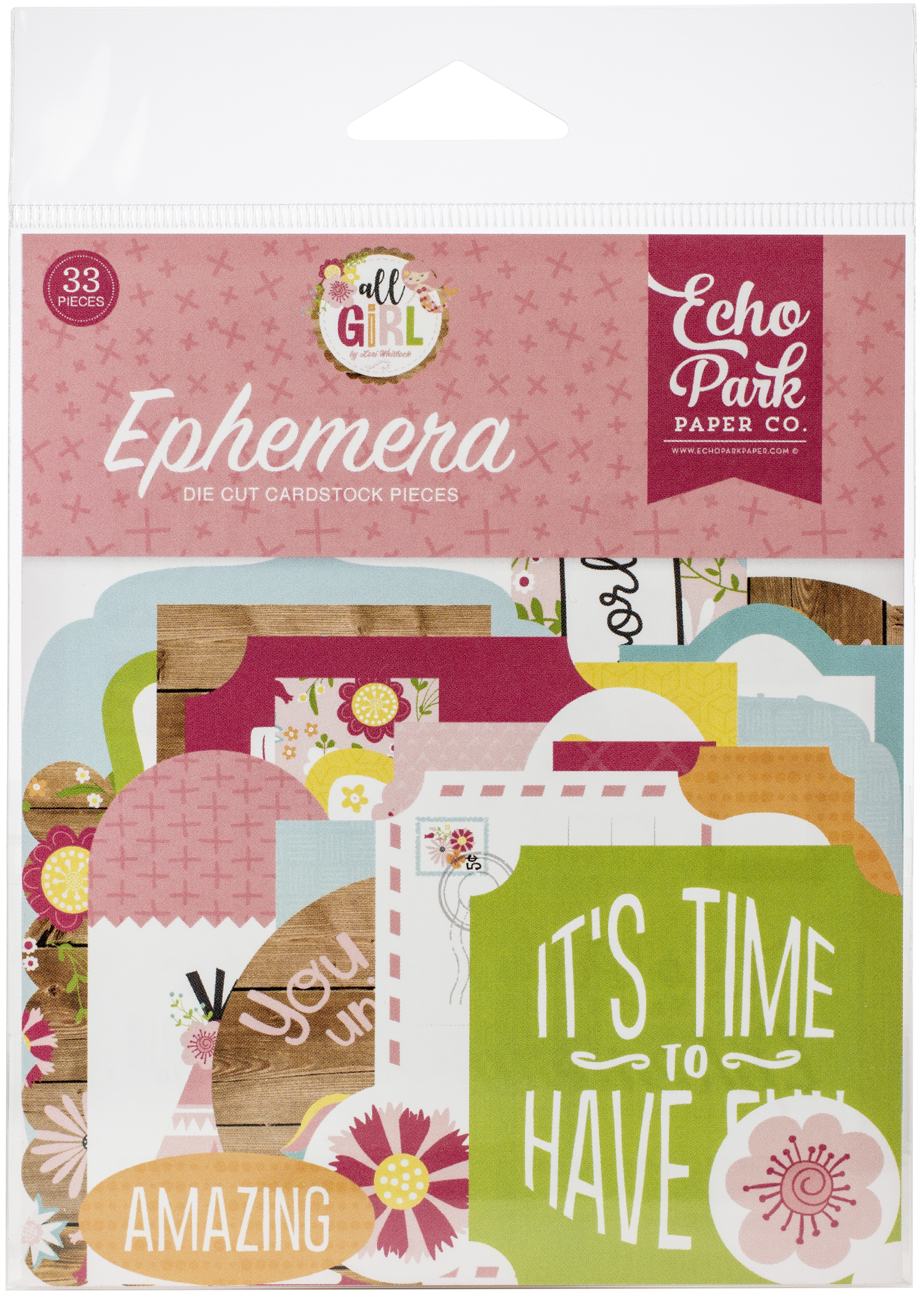Echo Park Cardstock Ephemera 33/Pkg-Icons, All Girl