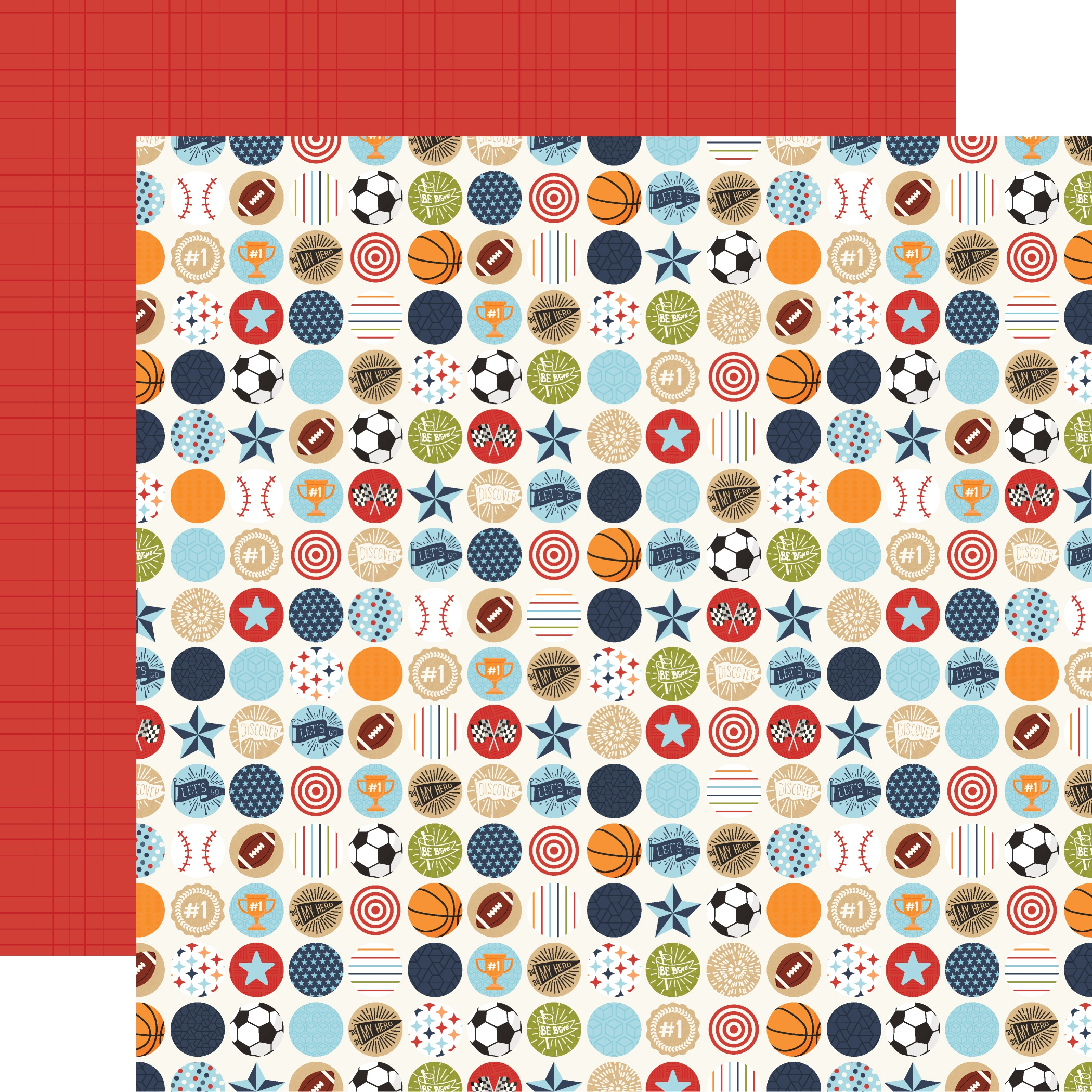 All Boy Double-Sided Cardstock 12X12-Go See Do