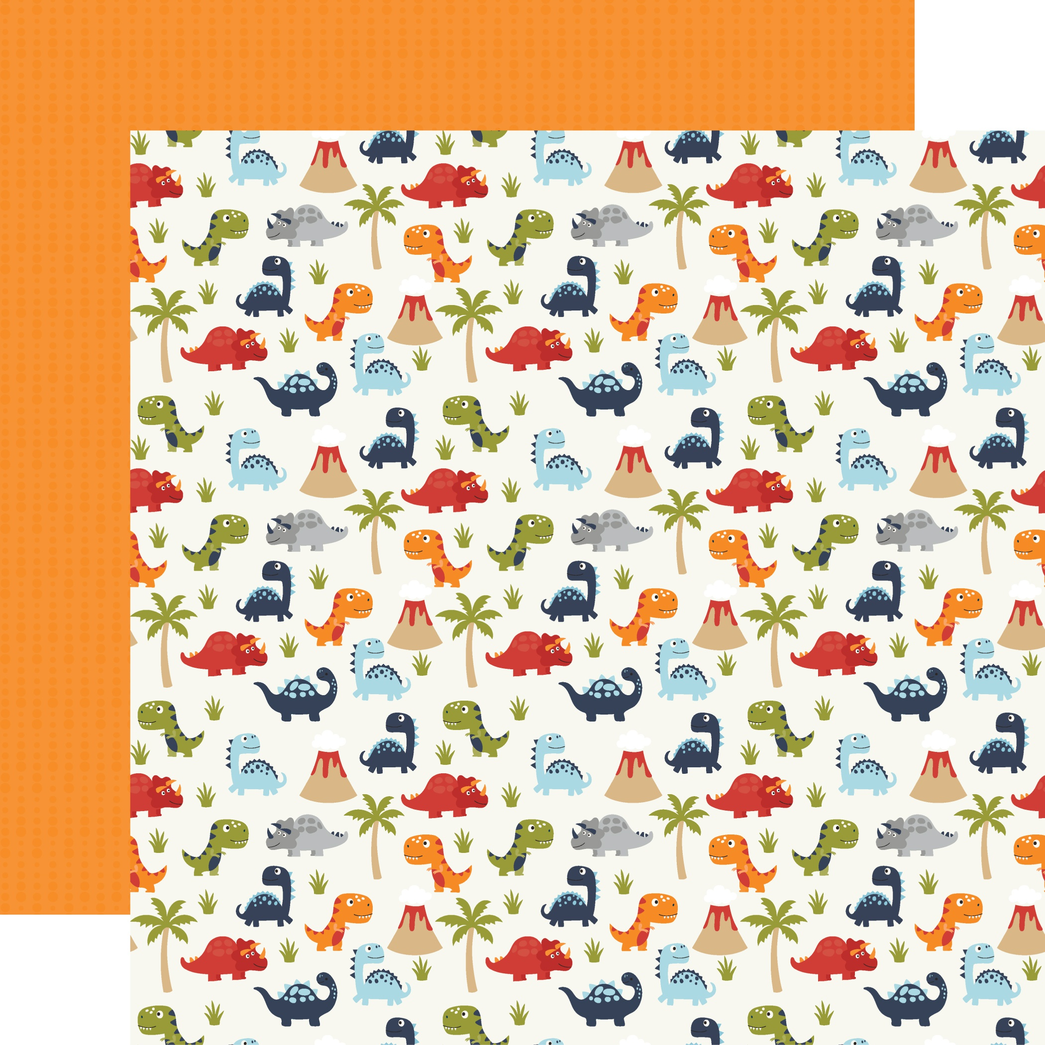 All Boy Double-Sided Cardstock 12X12-Dino-Mite