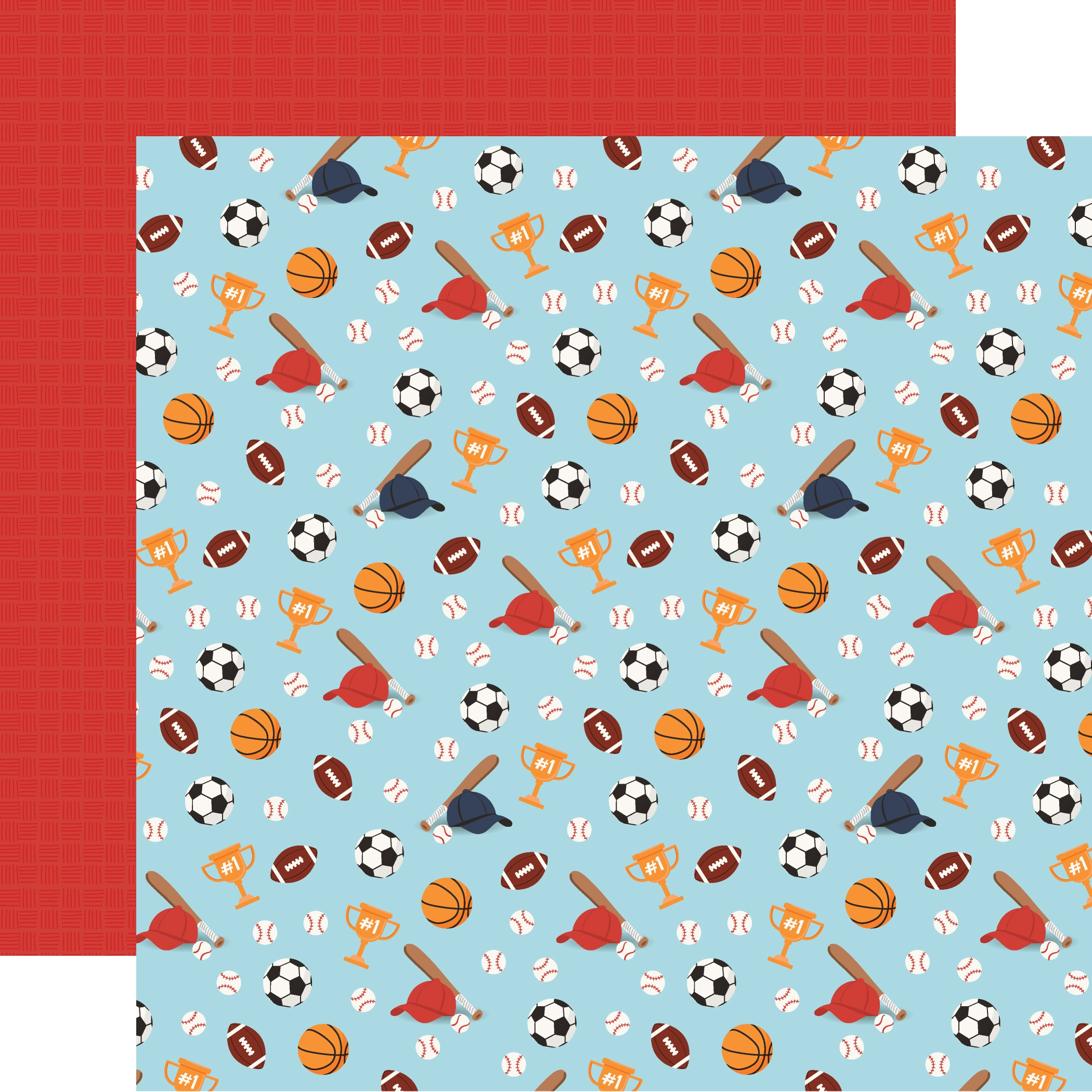 All Boy Double-Sided Cardstock 12X12-All Star