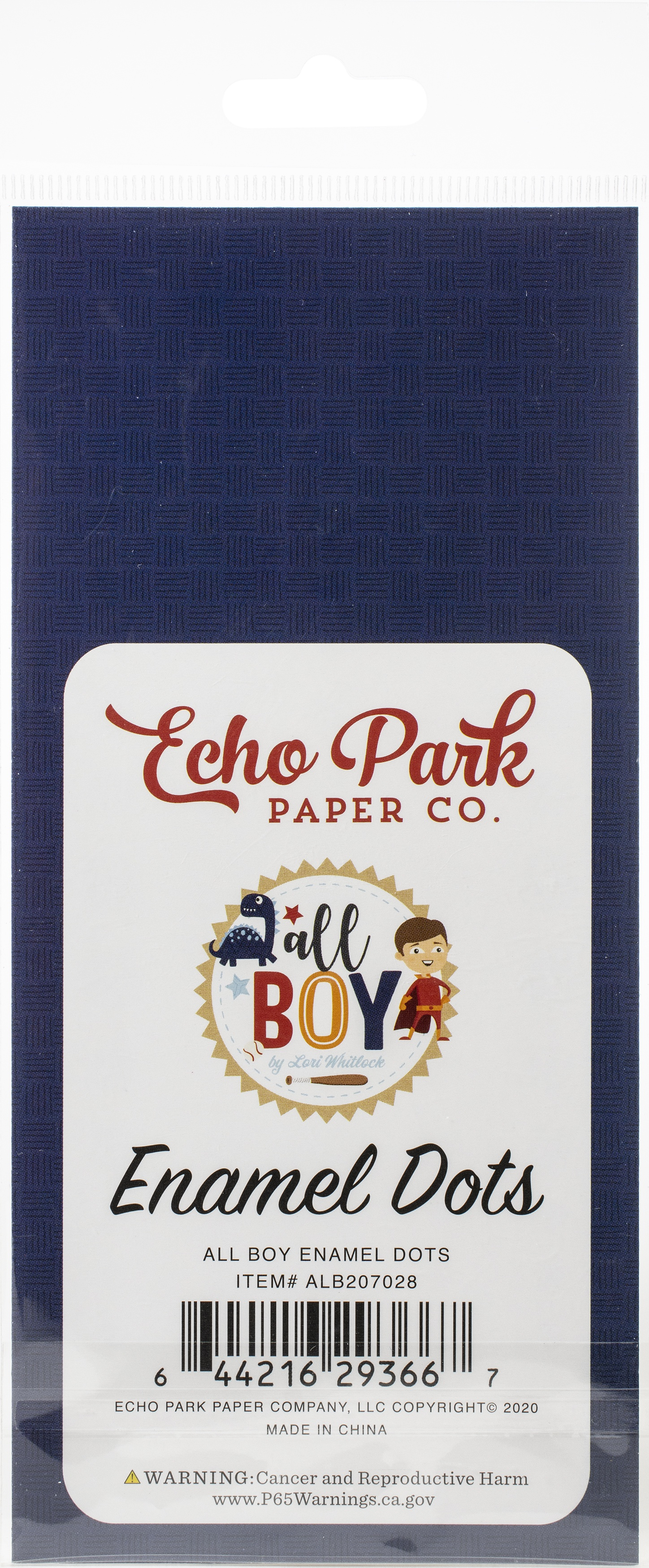 Echo Park Adhesive Enamel Dots 60/Pkg-All Boy