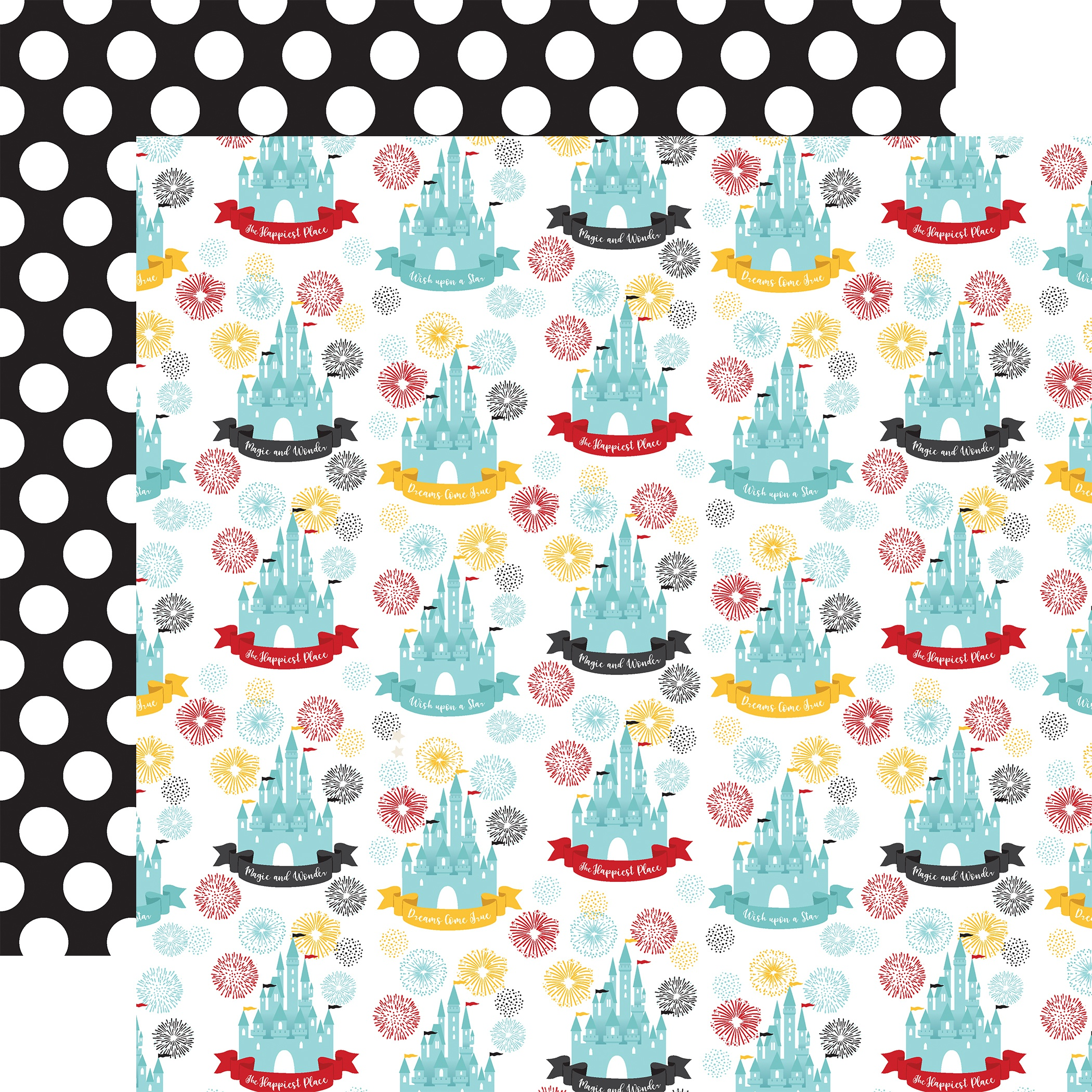 Remember The Magic Double-Sided Cardstock 12X12-Happiest Place
