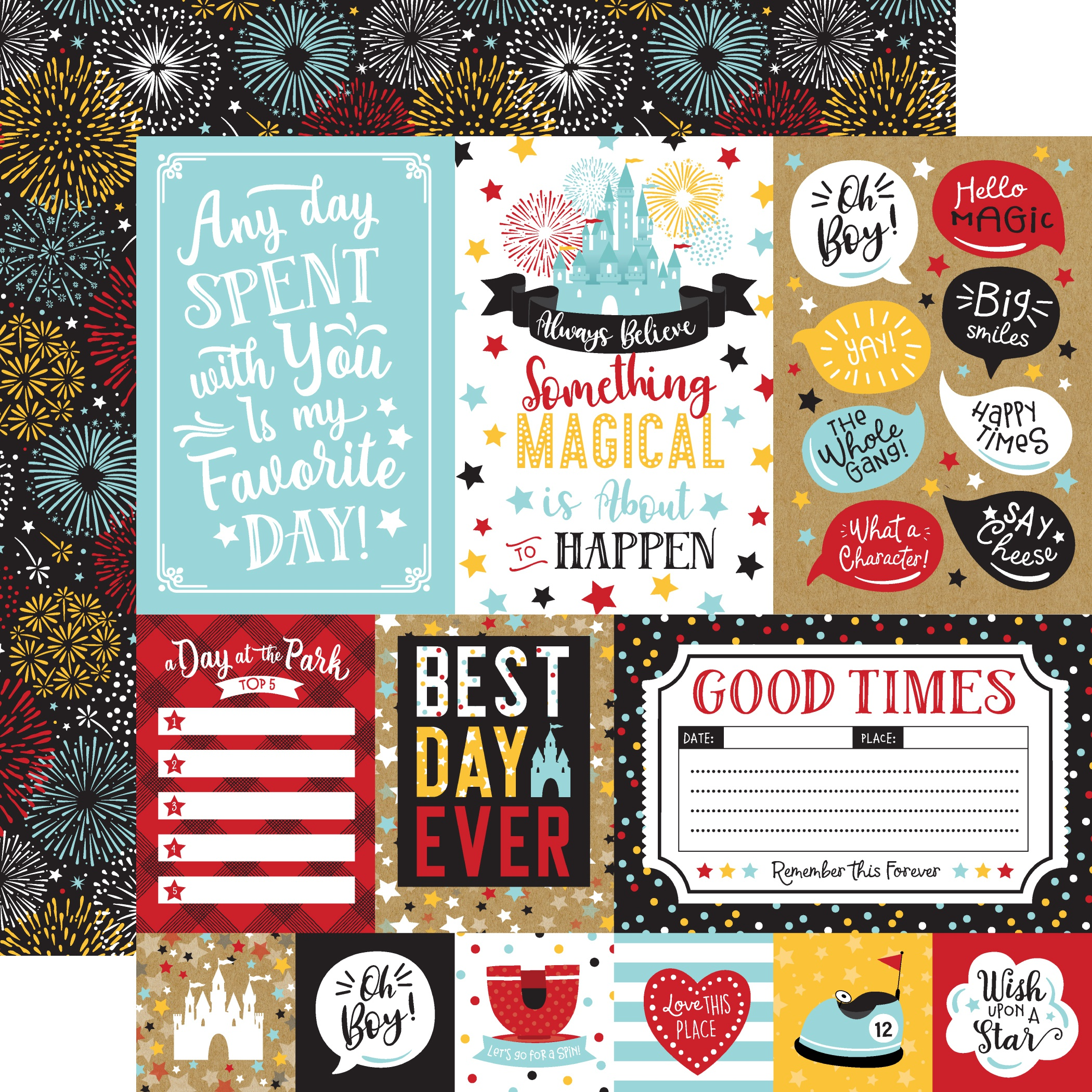 Remember The Magic Double-Sided Cardstock 12X12-Multi Journaling Cards