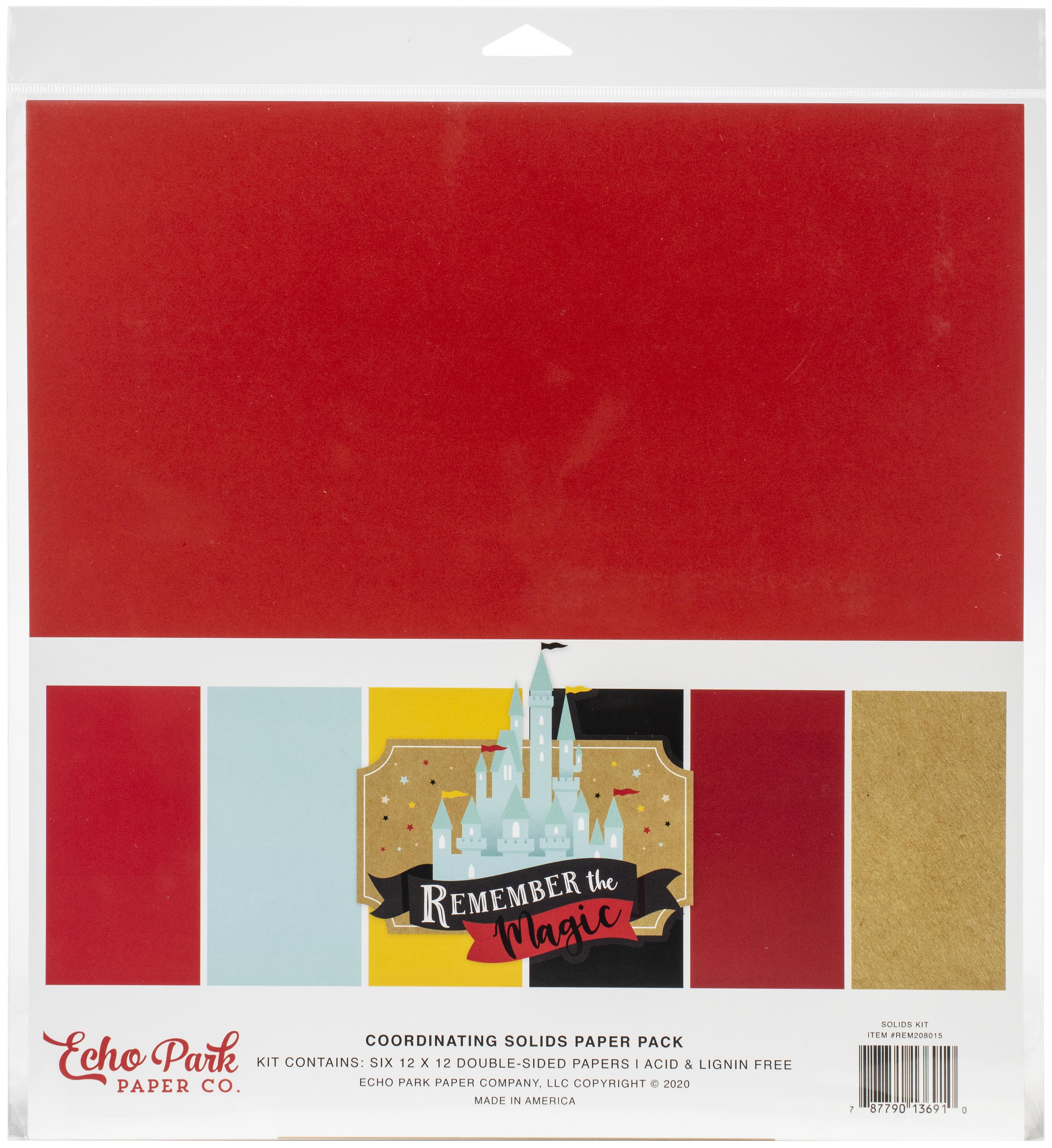 Echo Park Remember the Magic Solids Paper Kit 12x12