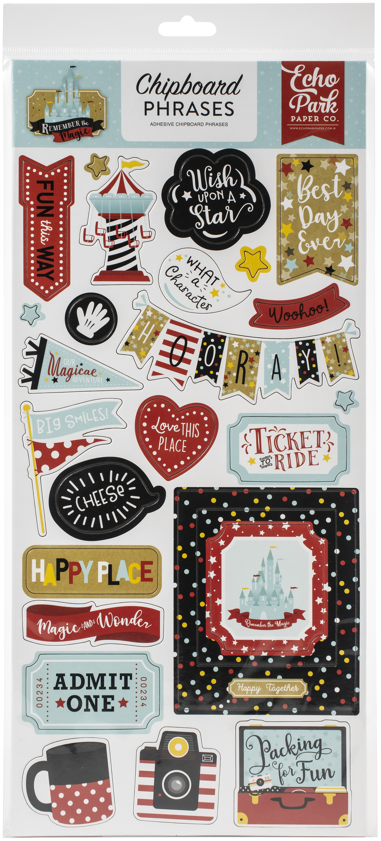 Remember The Magic Chipboard 6X13-Phrases