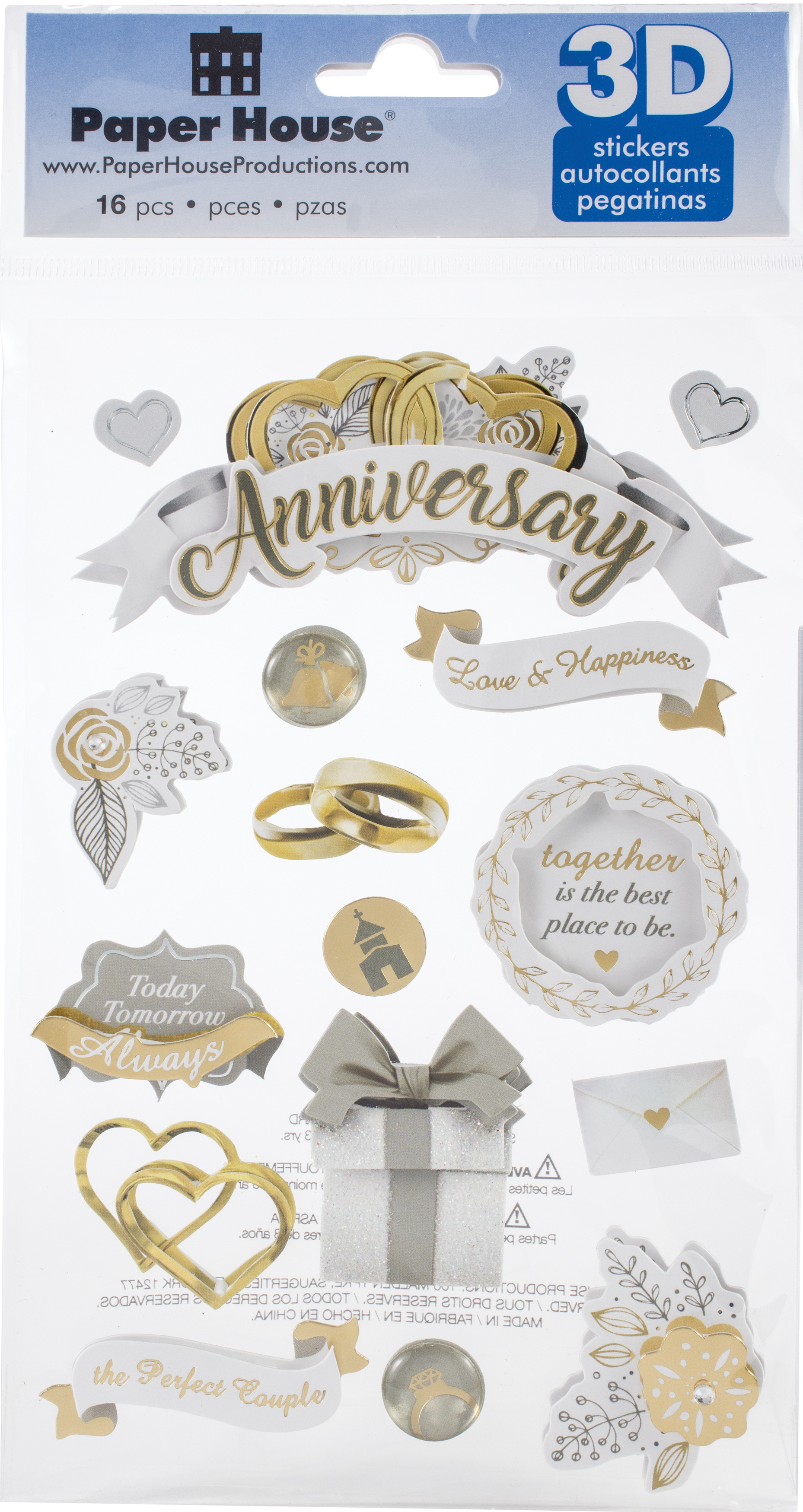 Paper House 3D Stickers-Our Anniversary