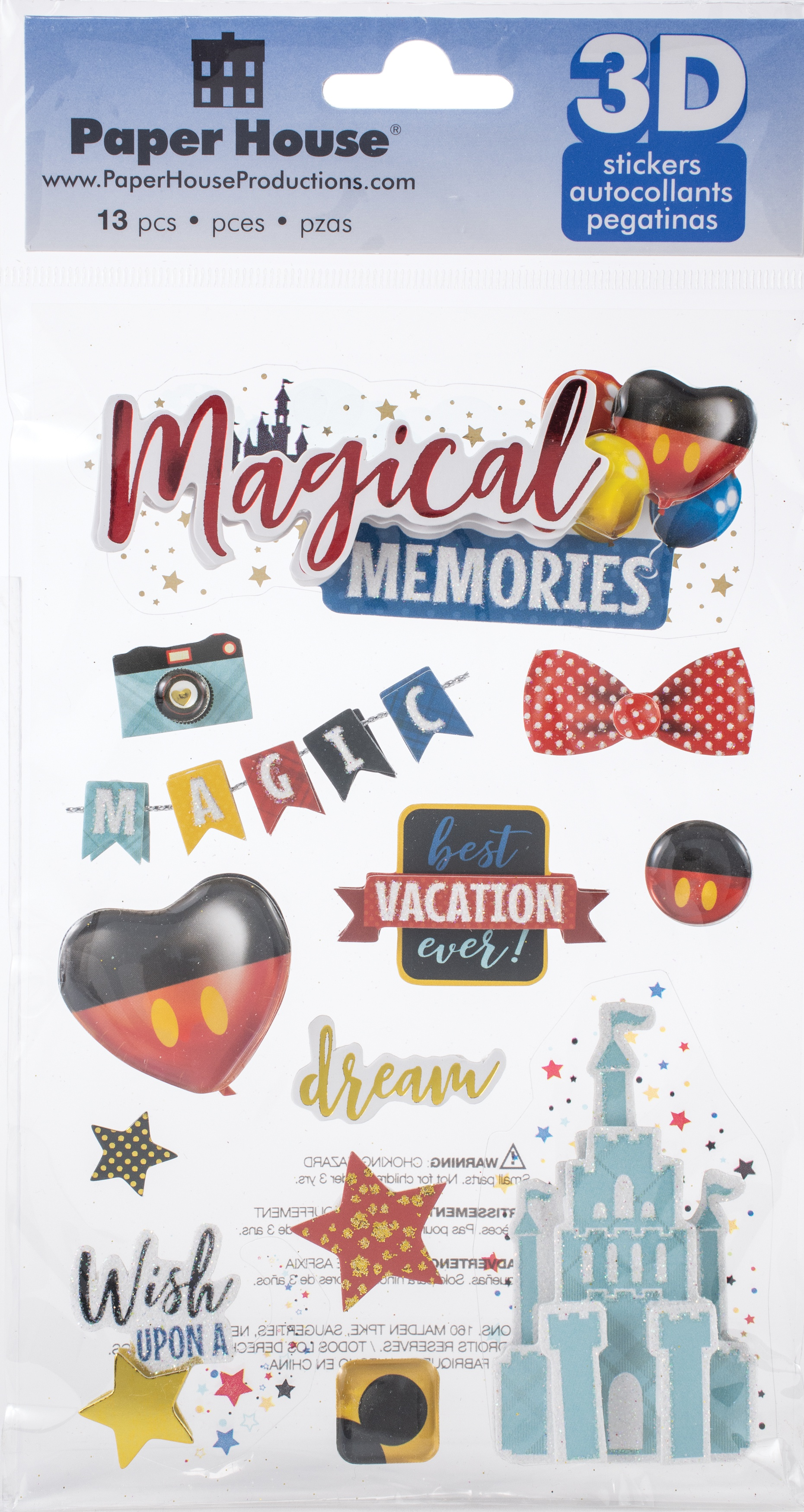 Paper House 3D Stickers - Magical Memories