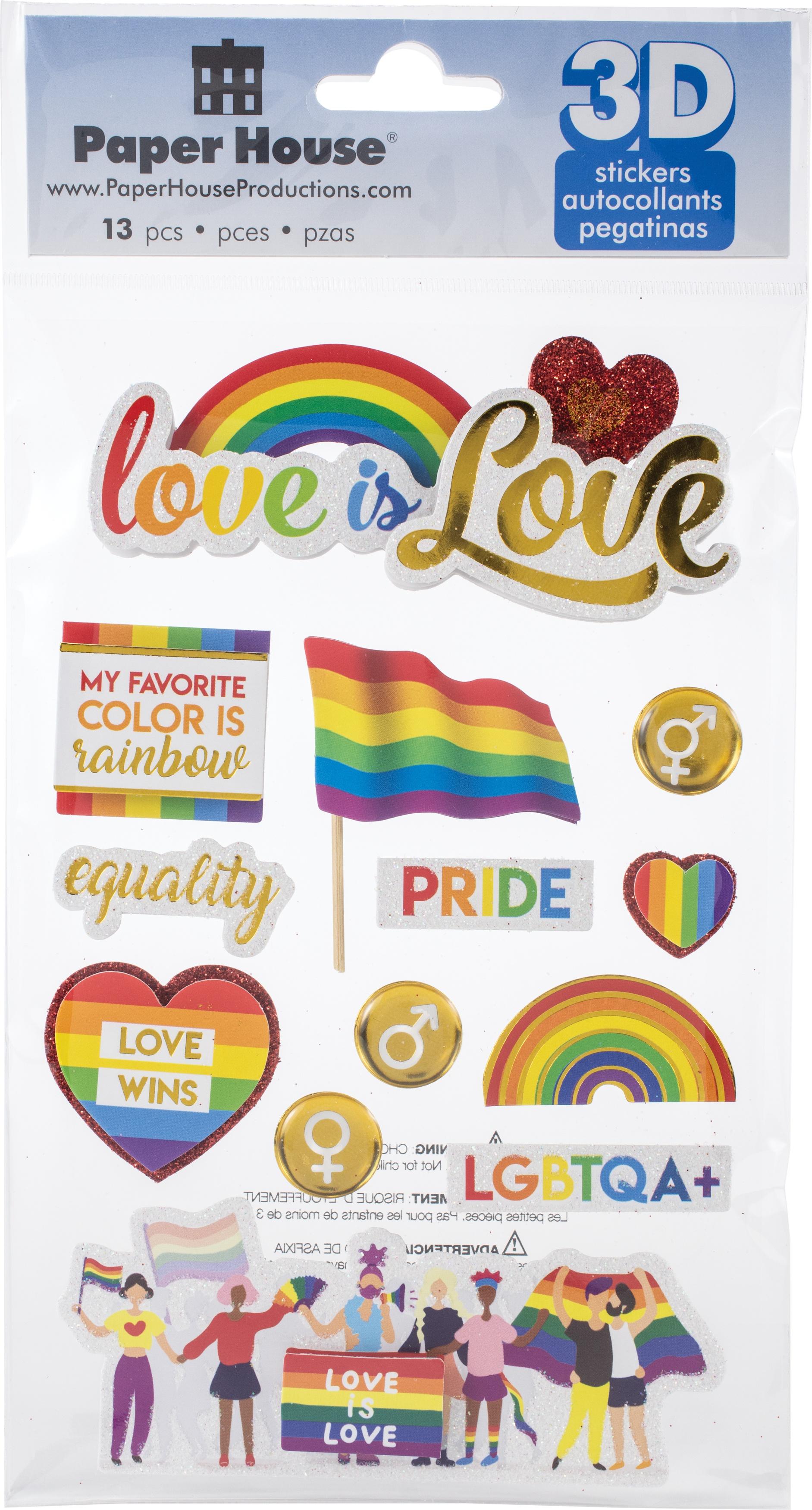 Paper House 3D Stickers- Pride Diversity