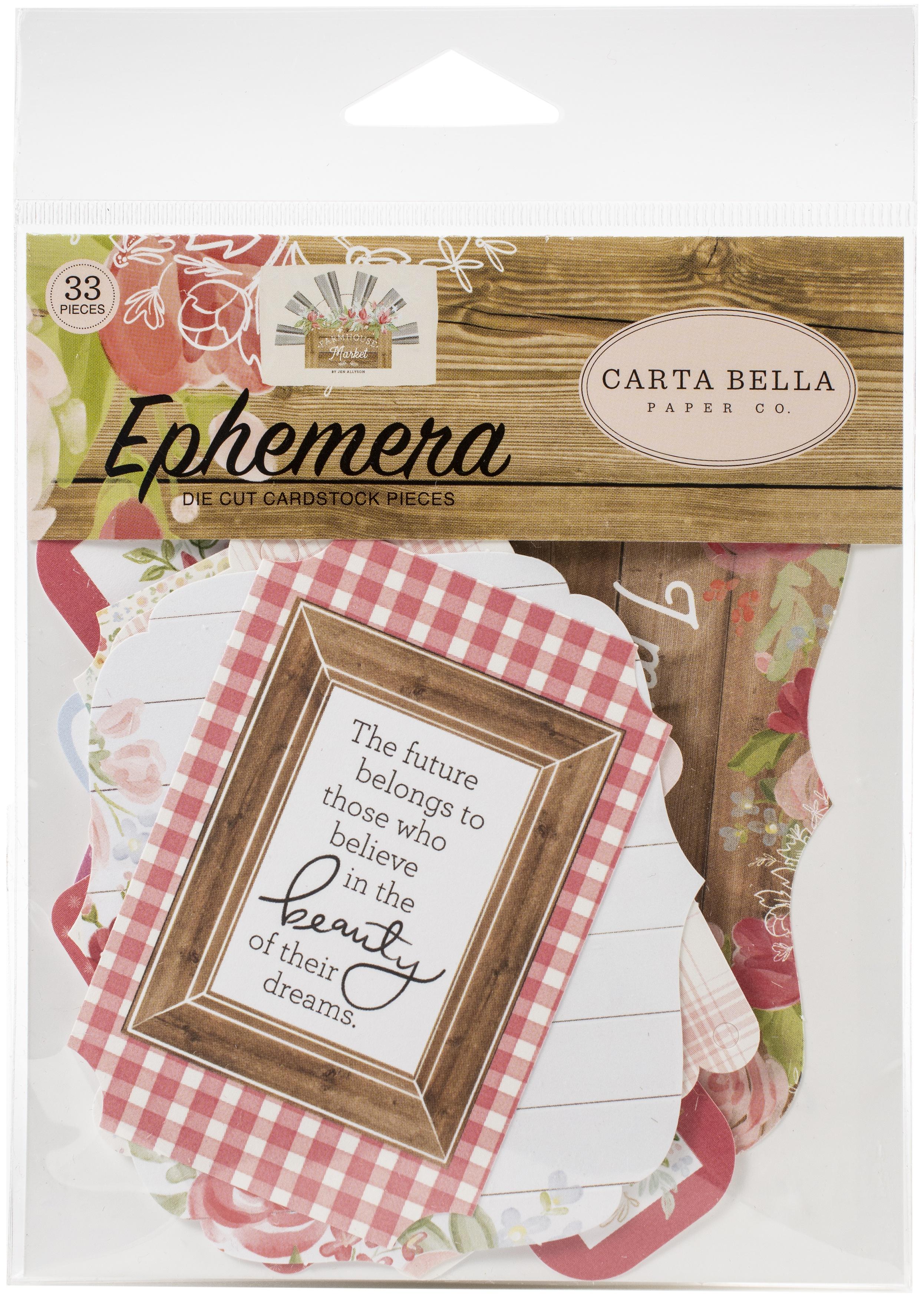 Carta Bella Cardstock Ephemera 33/Pkg-Icons, Farmhouse Market