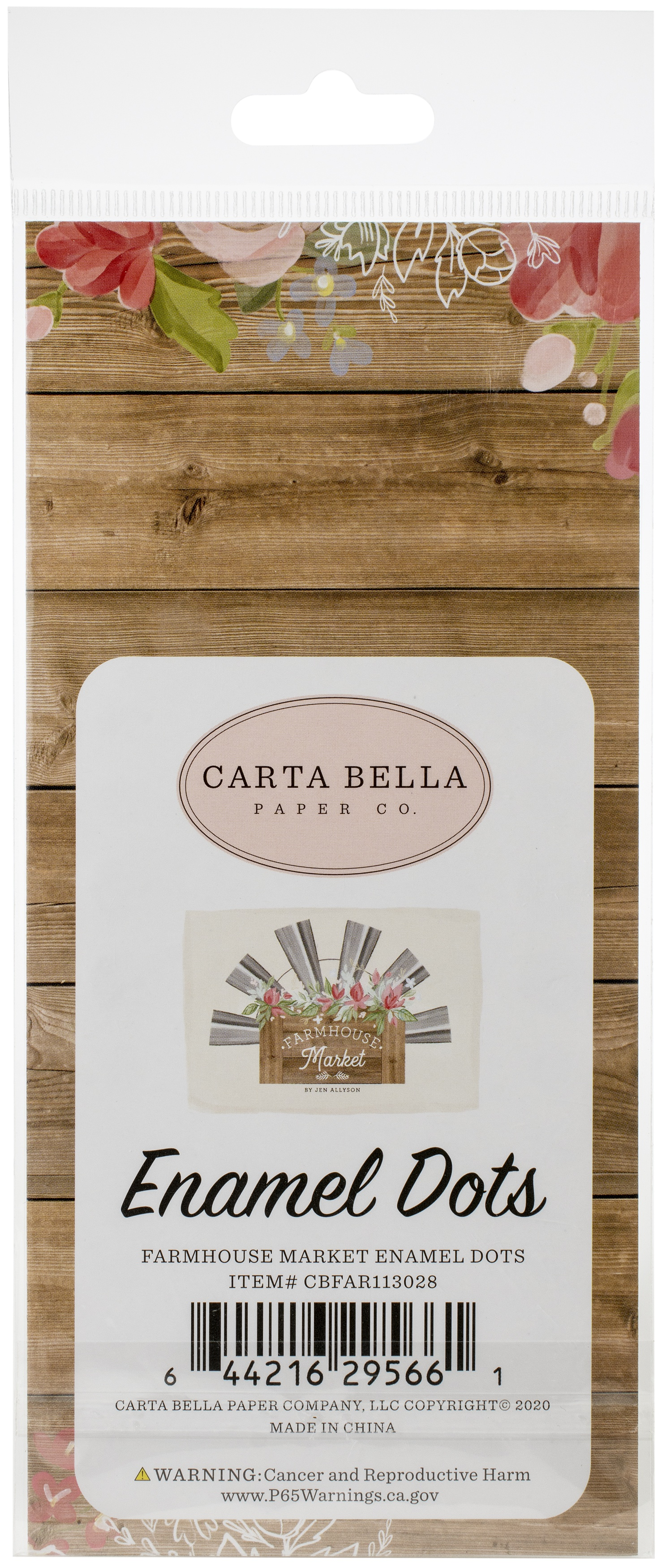Carta Bella Adhesive Enamel Dots 60/Pkg-Farmhouse Market