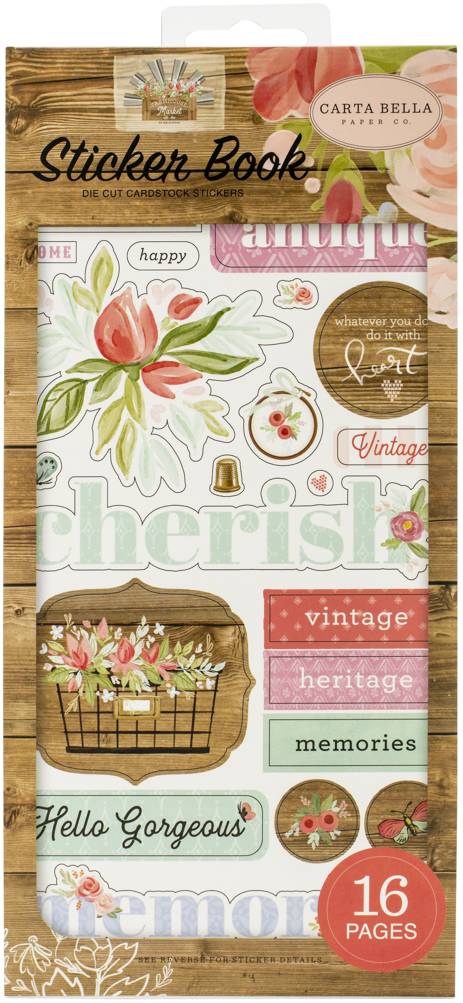 Carta Bella Sticker Book-Farmhouse Market