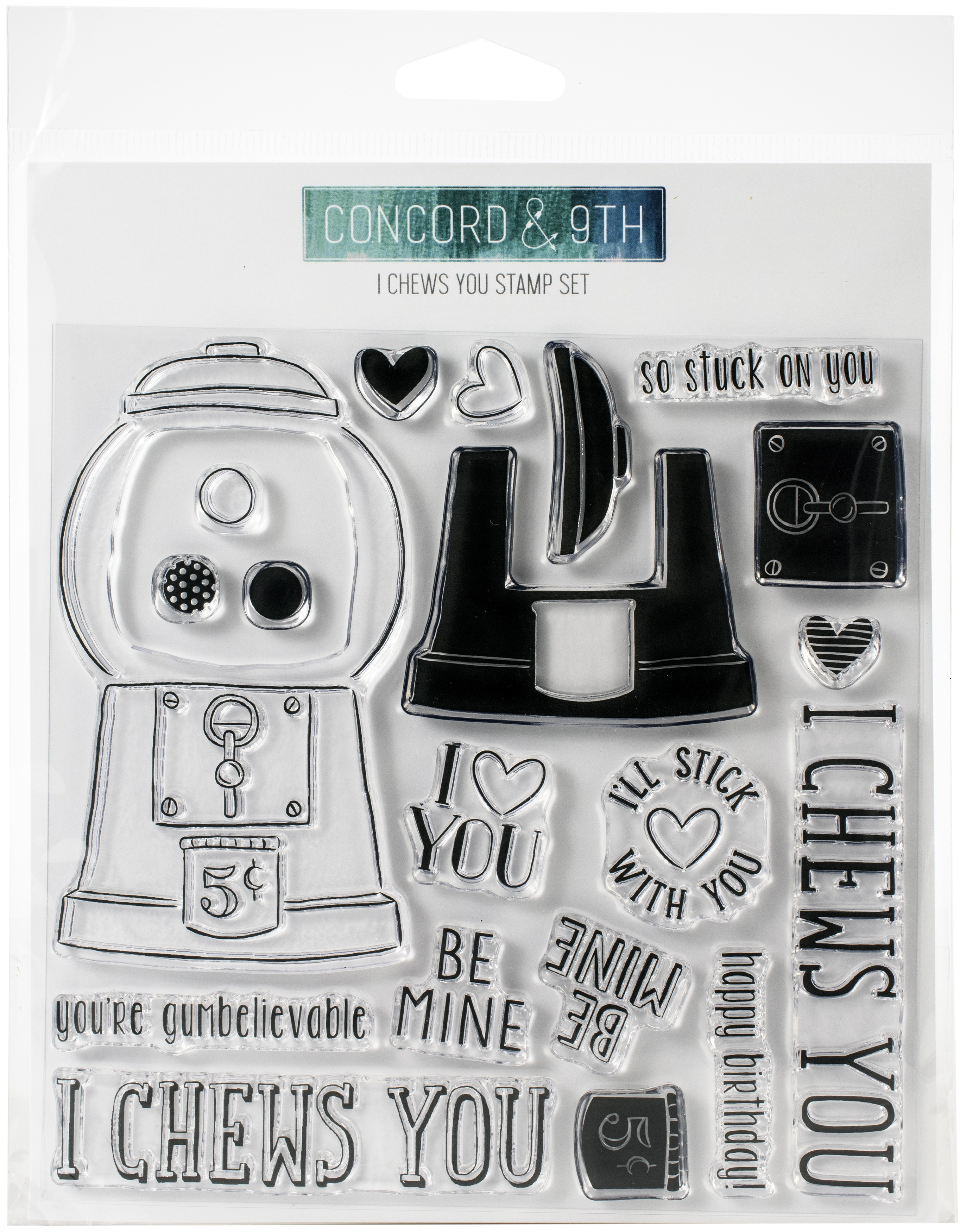 Concord & 9th Clear Stamps 6X6-I Chews You