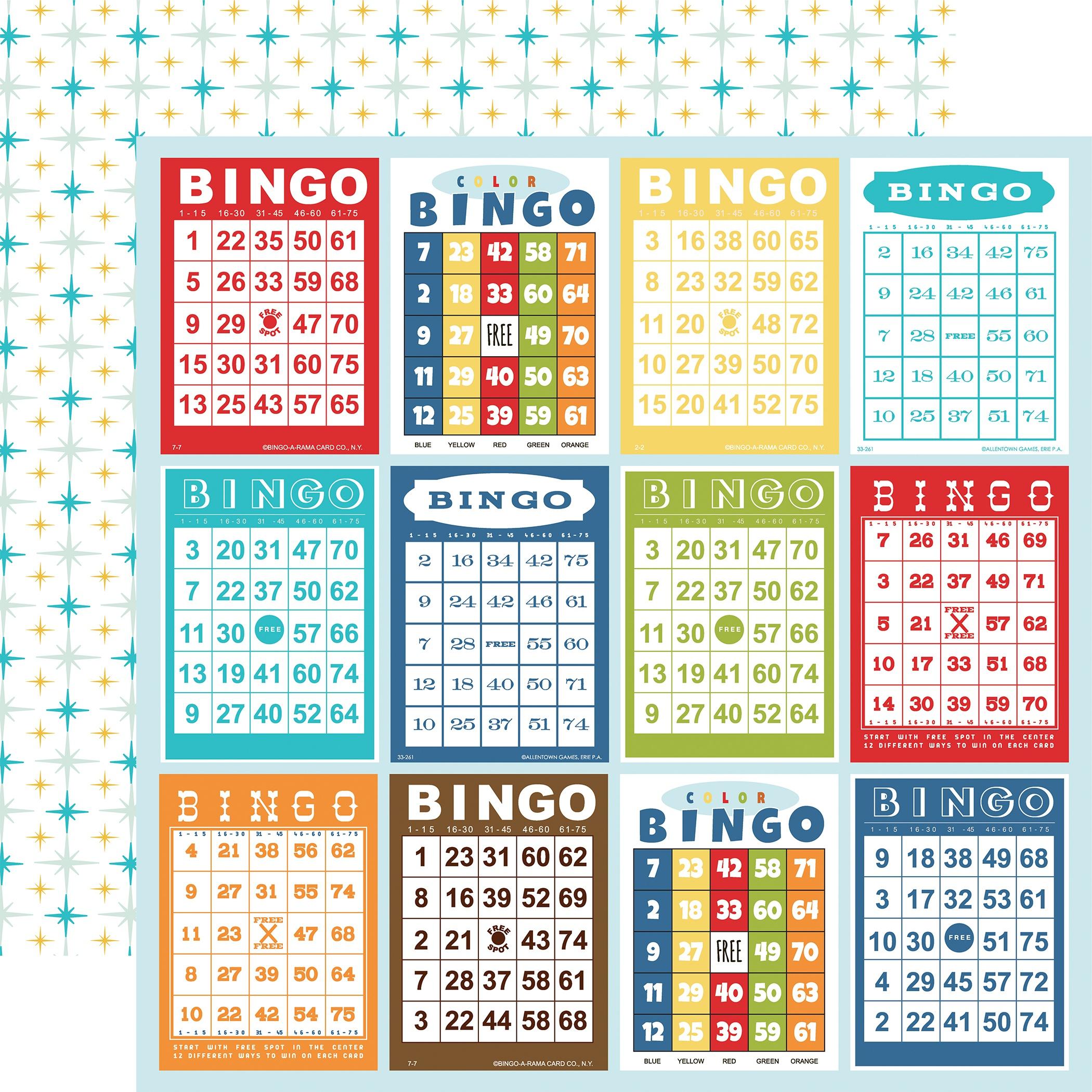 Family Night - Bingo Cards