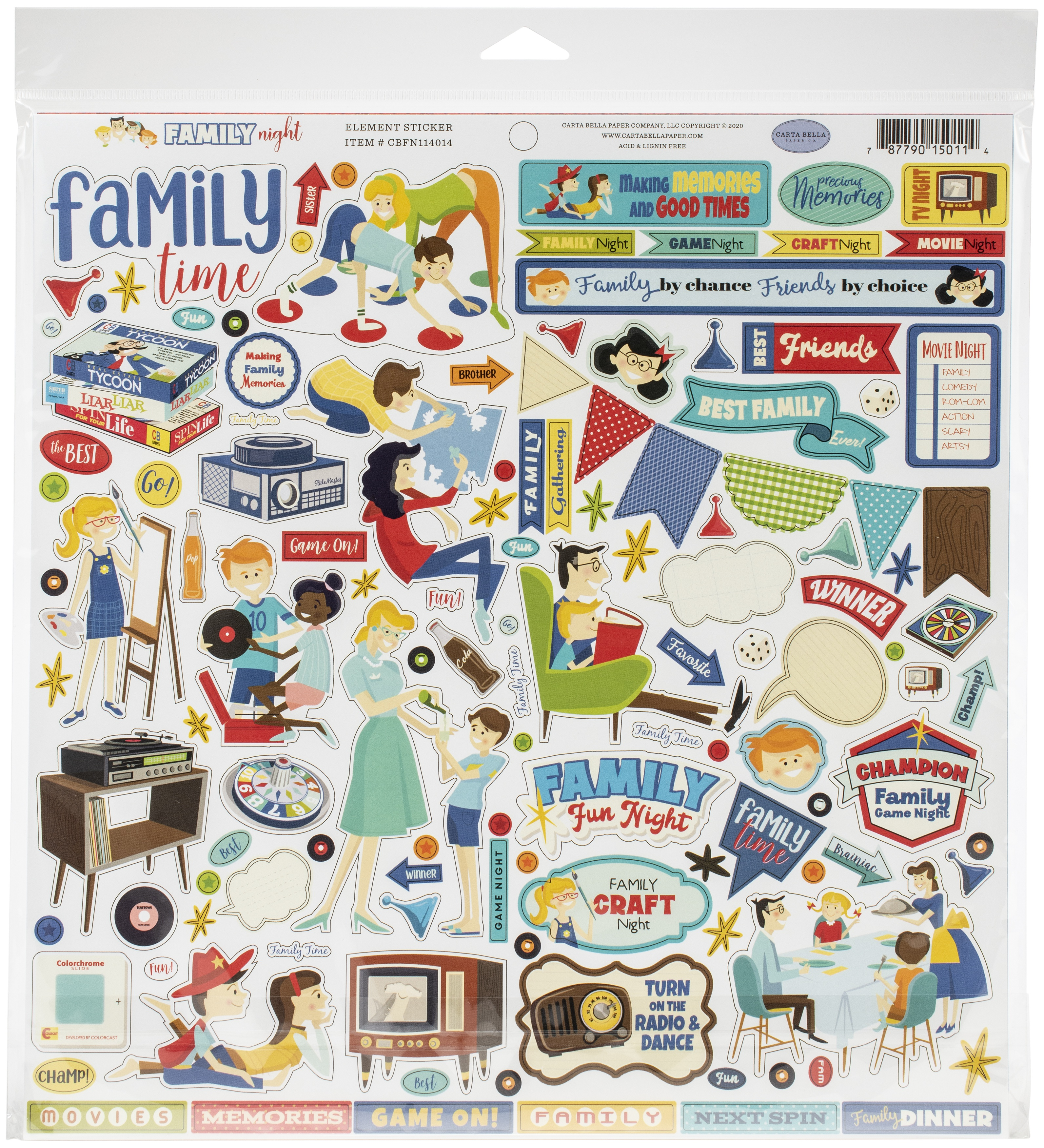 Family Night Collection Kit 12X12