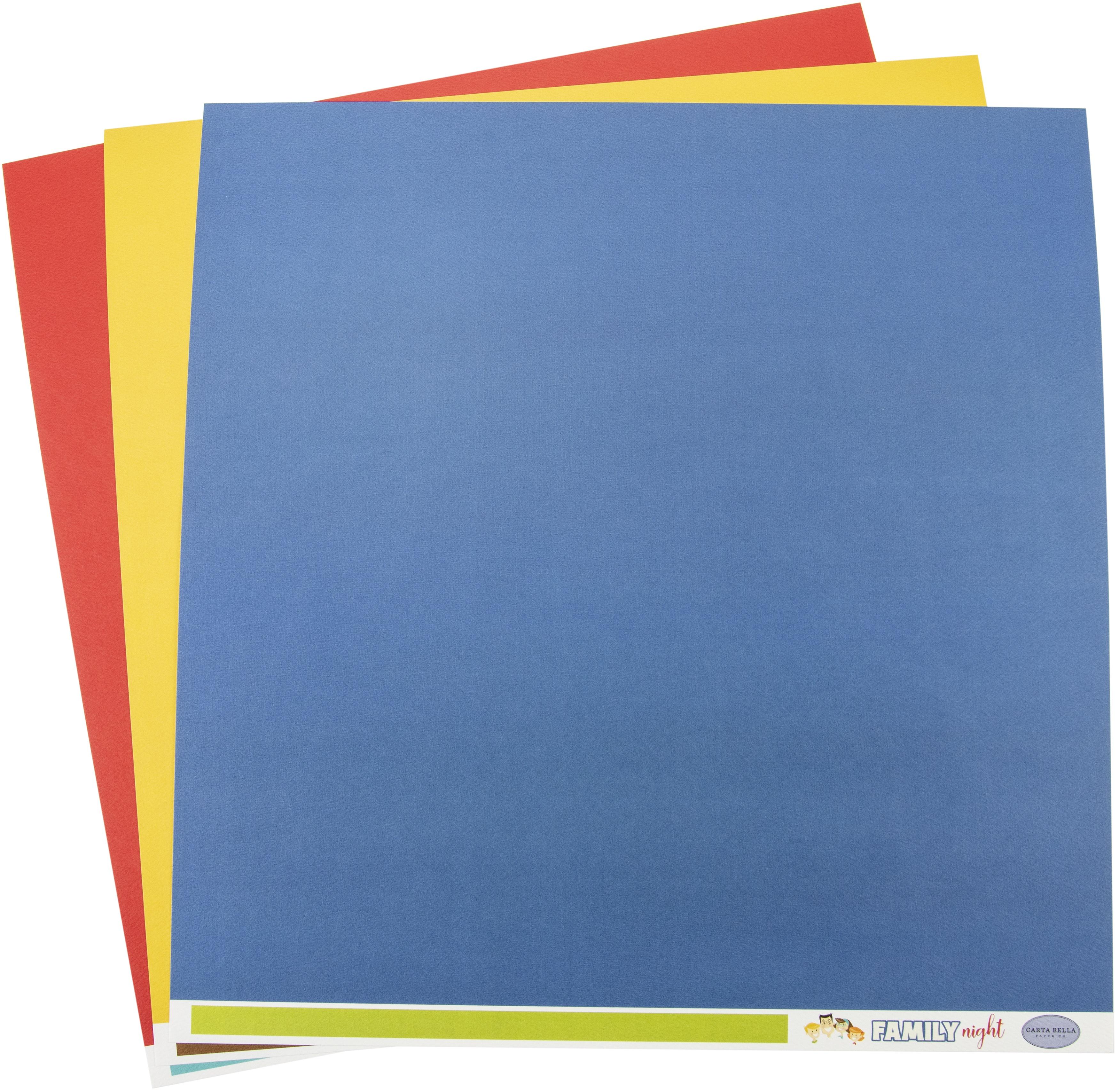 Carta Bella Family Night Solids Paper Pack 12x12