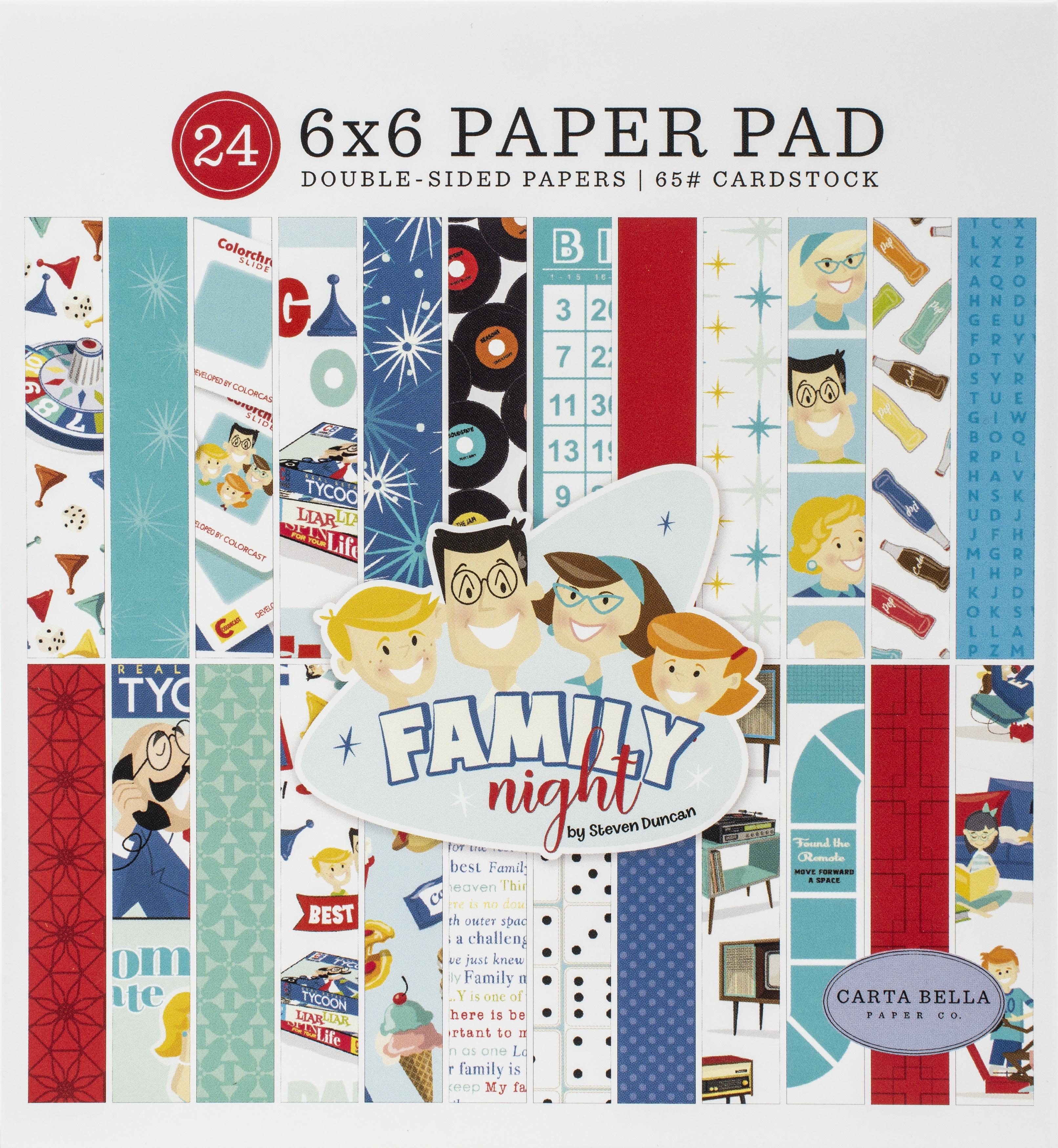 Family Night - Paper Pad 6x6