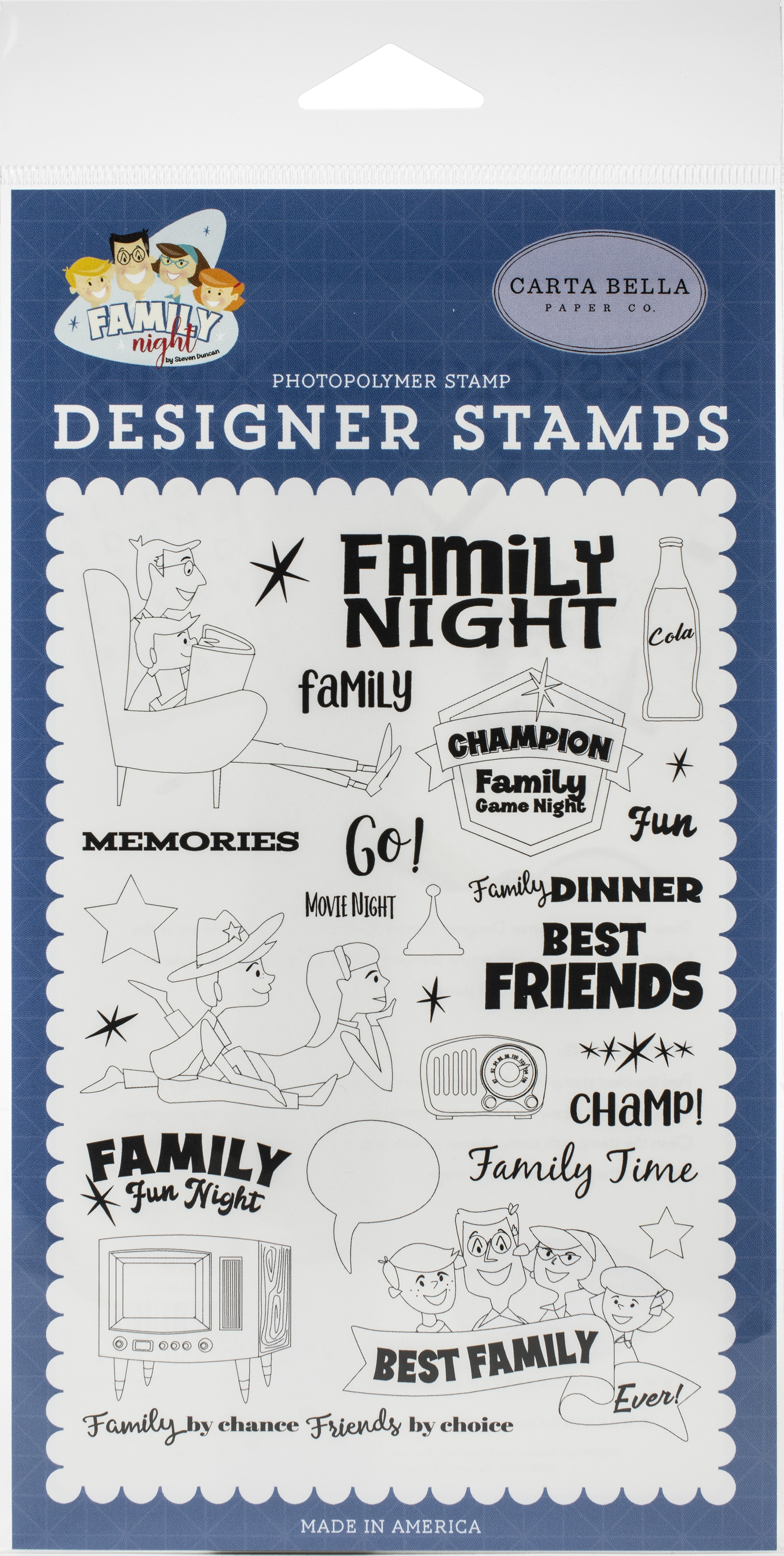 Carta Bella Stamps-Family Time, Family Night