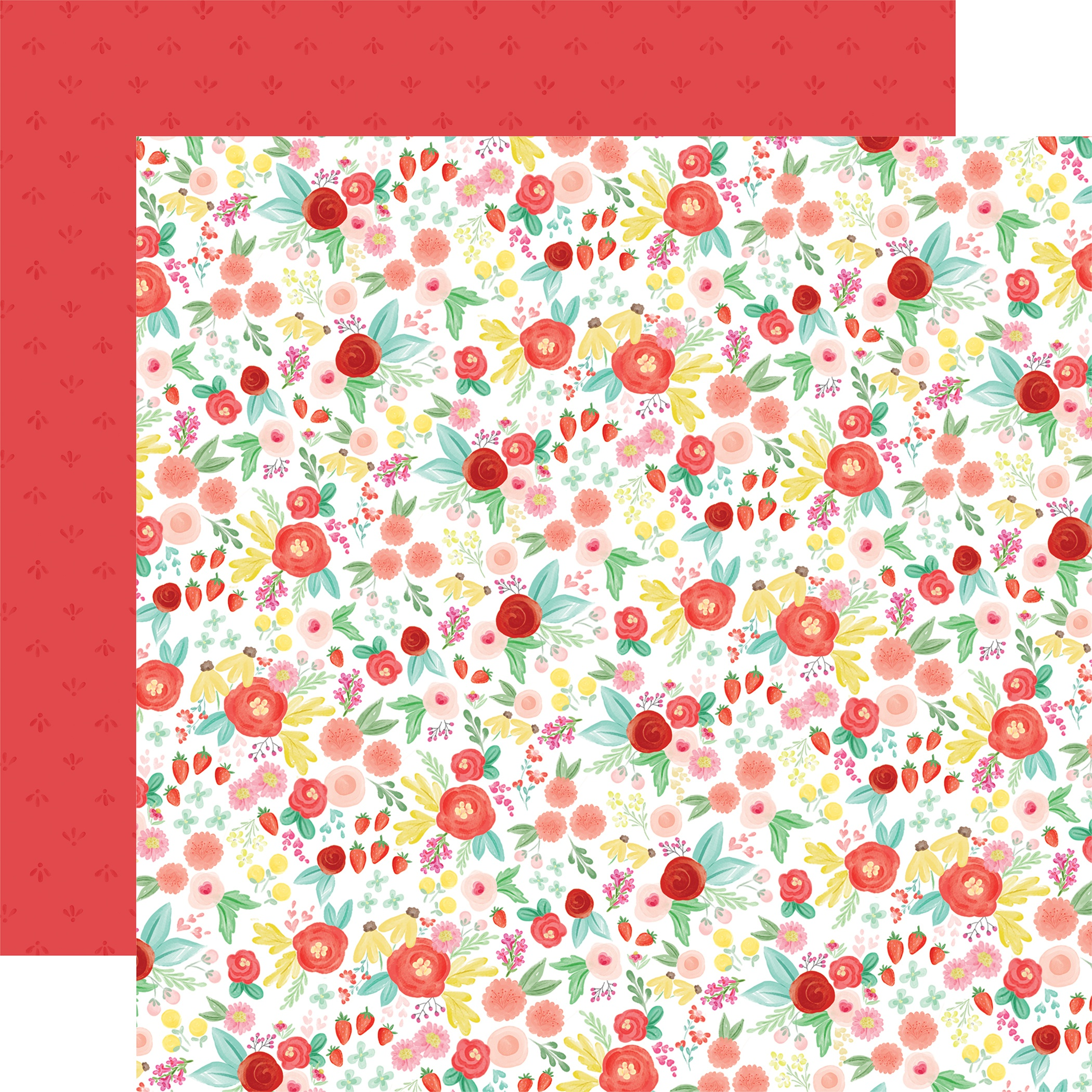 Summer Market Double-Sided Cardstock 12X12-Best Summer Floral