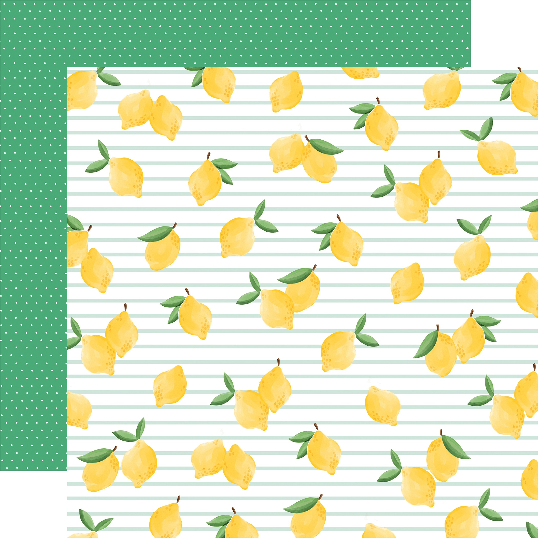 Summer Market Double-Sided Cardstock 12X12-Lovely Lemons