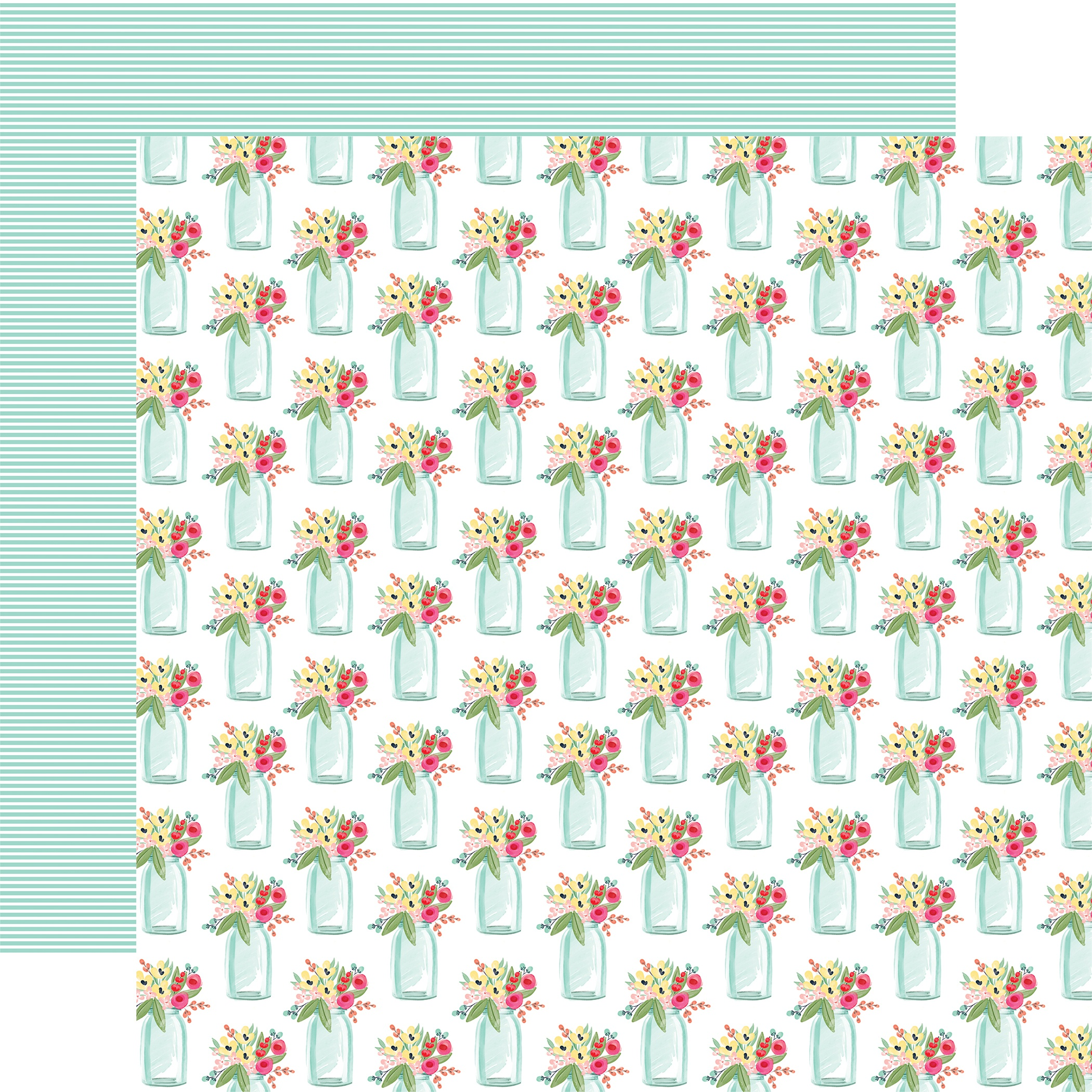 Summer Market Double-Sided Cardstock 12X12-Sweet Summer Jars