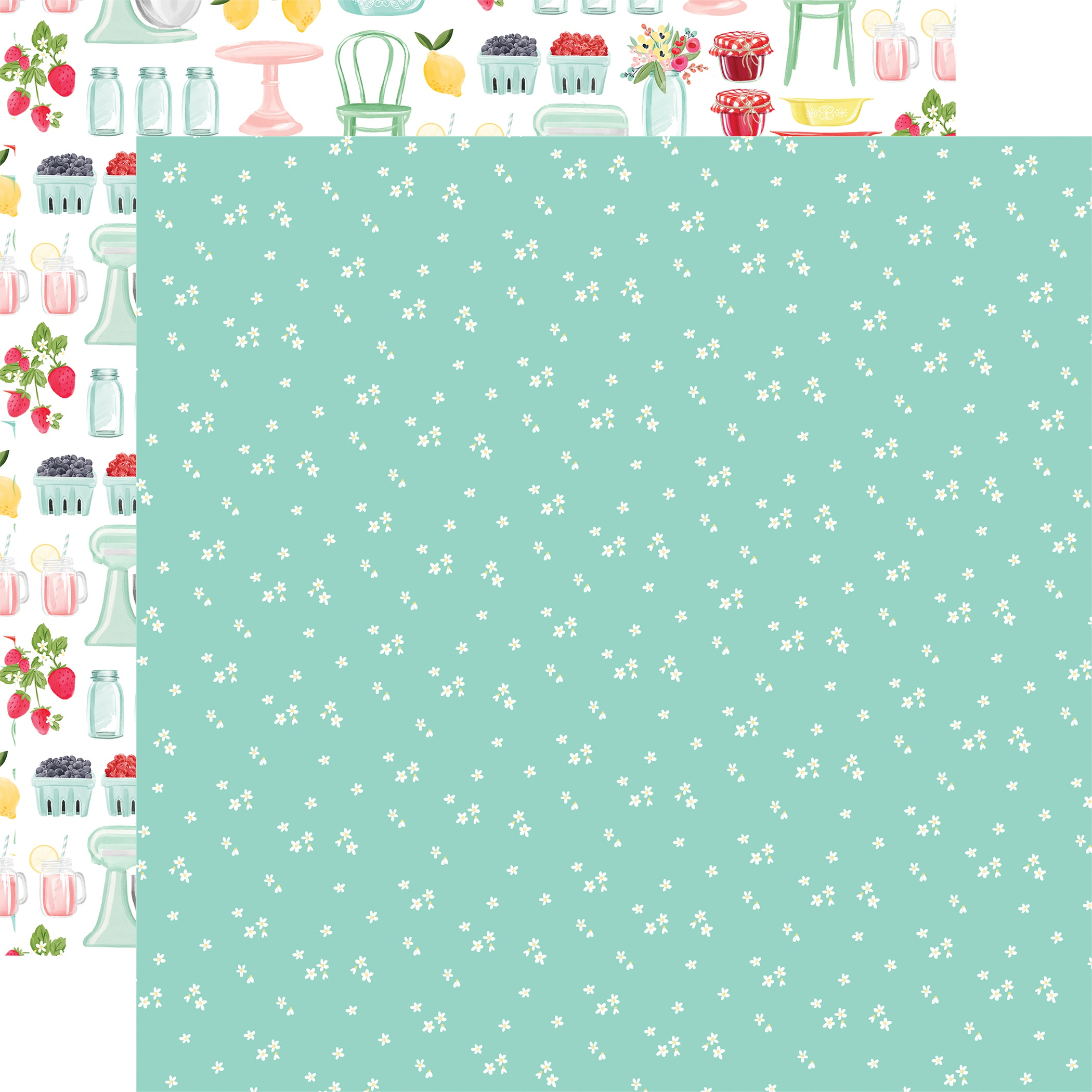 Summer Market Double-Sided Cardstock 12X12-Tiny Flowers